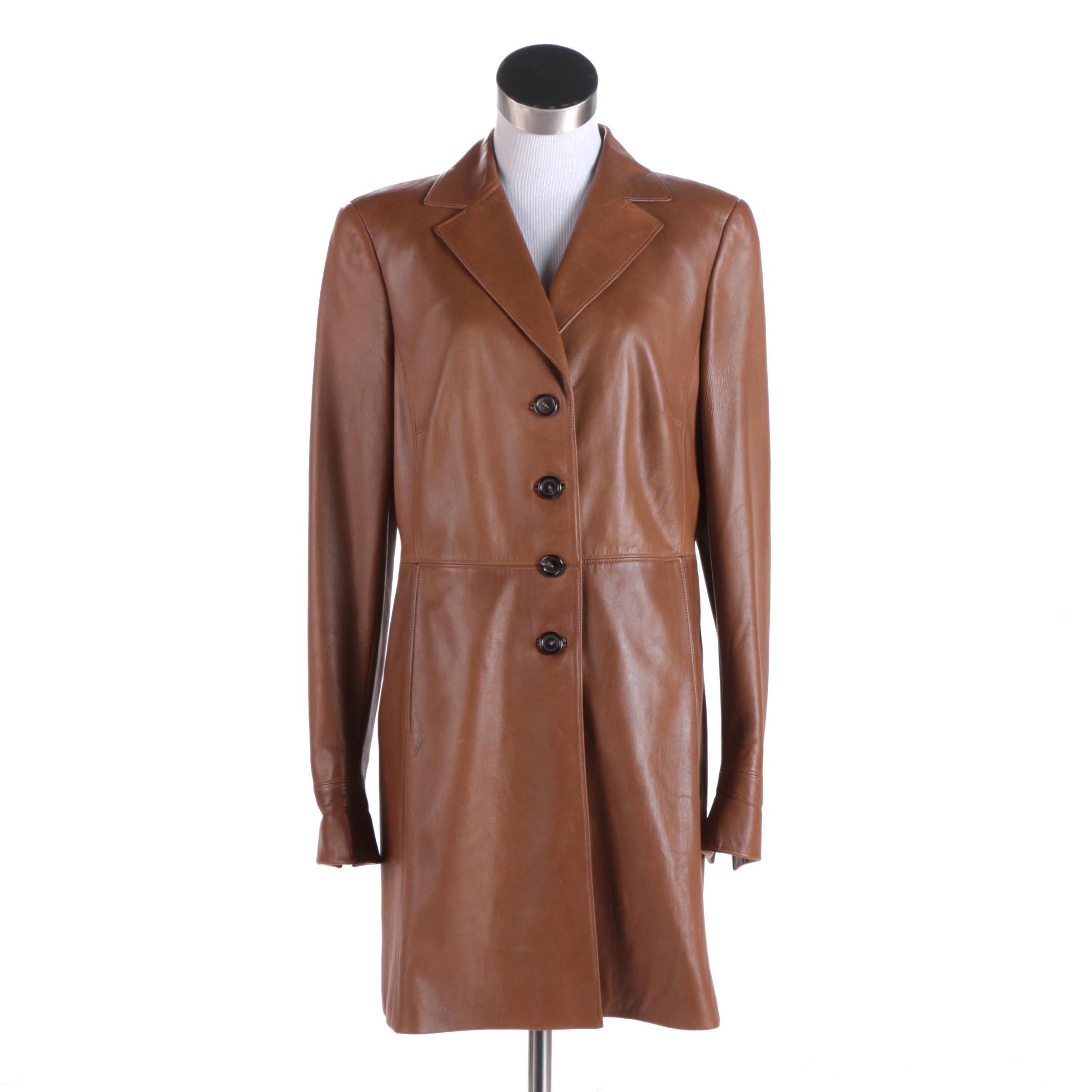 Women's Akris Brown Leather Jacket