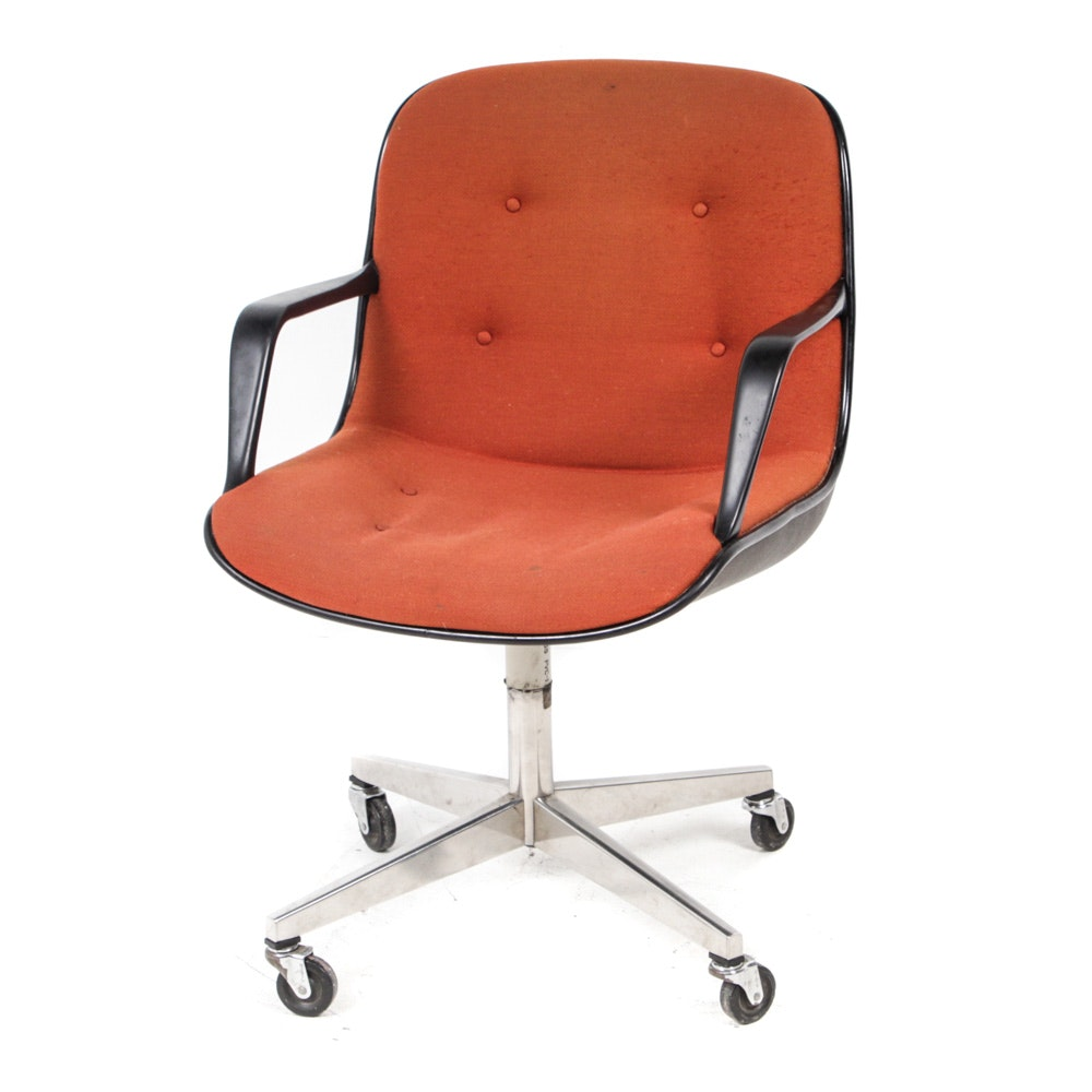 Office chair vintage Metal Frame Everything But The House Vintage Steelcase Mid Century Modern Office Chair Ebth