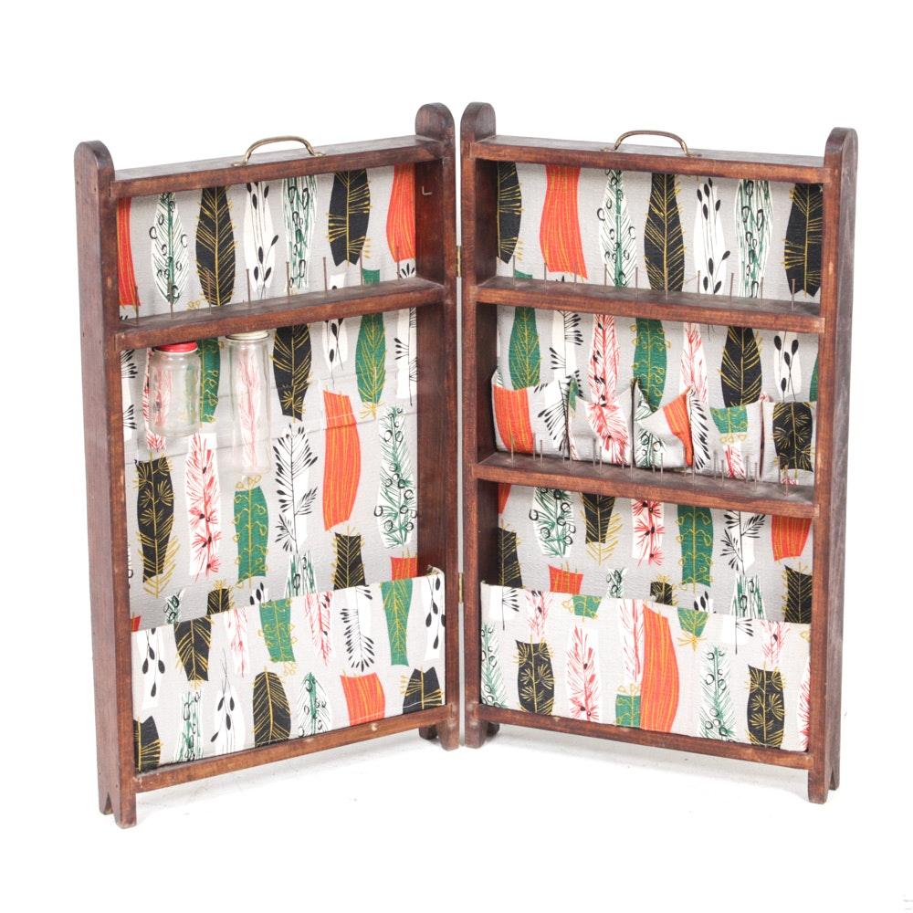 Vintage Portable Craft Supplies Cabinet