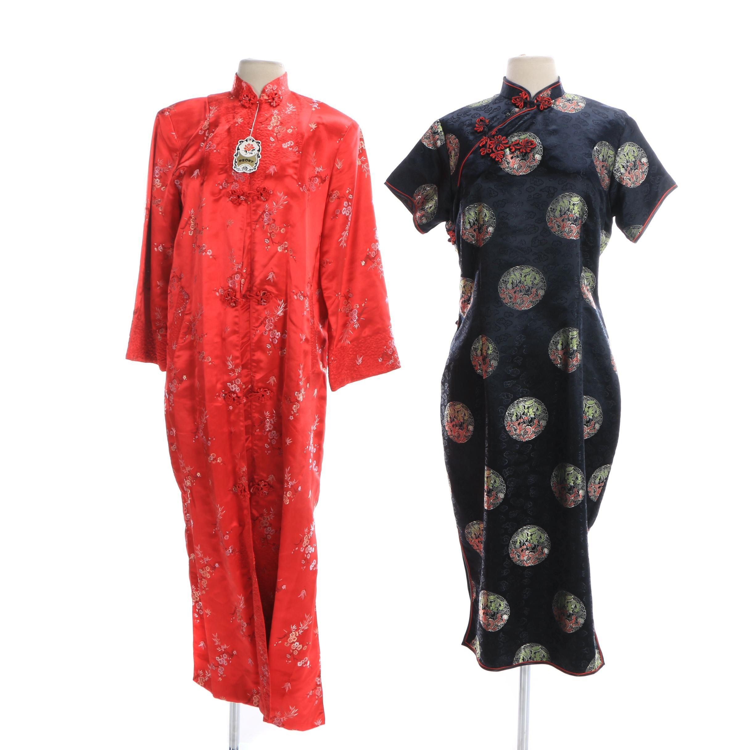 Peony Shanghai, China Brocade Dress Coat and Cheongsam Dress