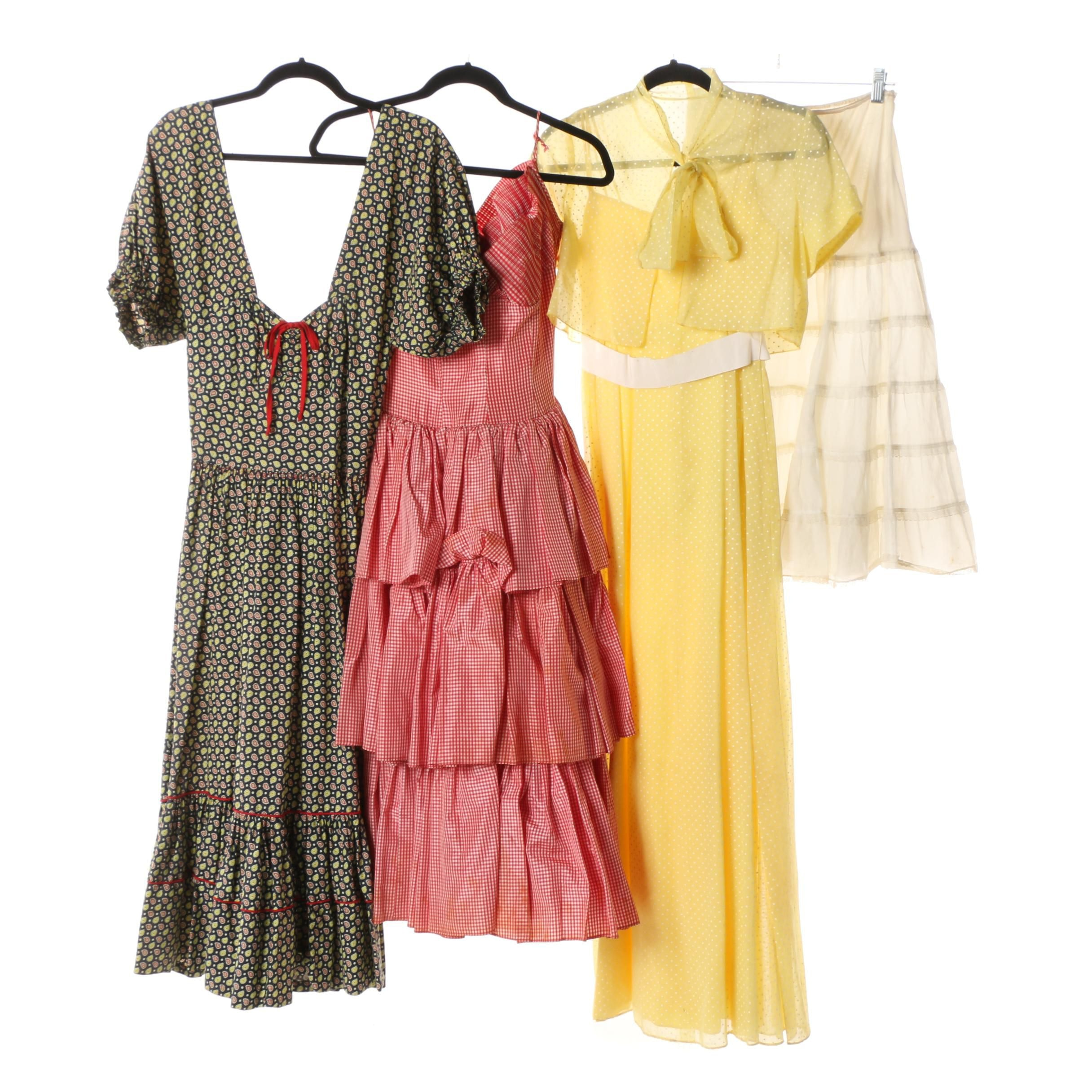 Women's Vintage Dresses Including Howard Norm Original Gingham Dress