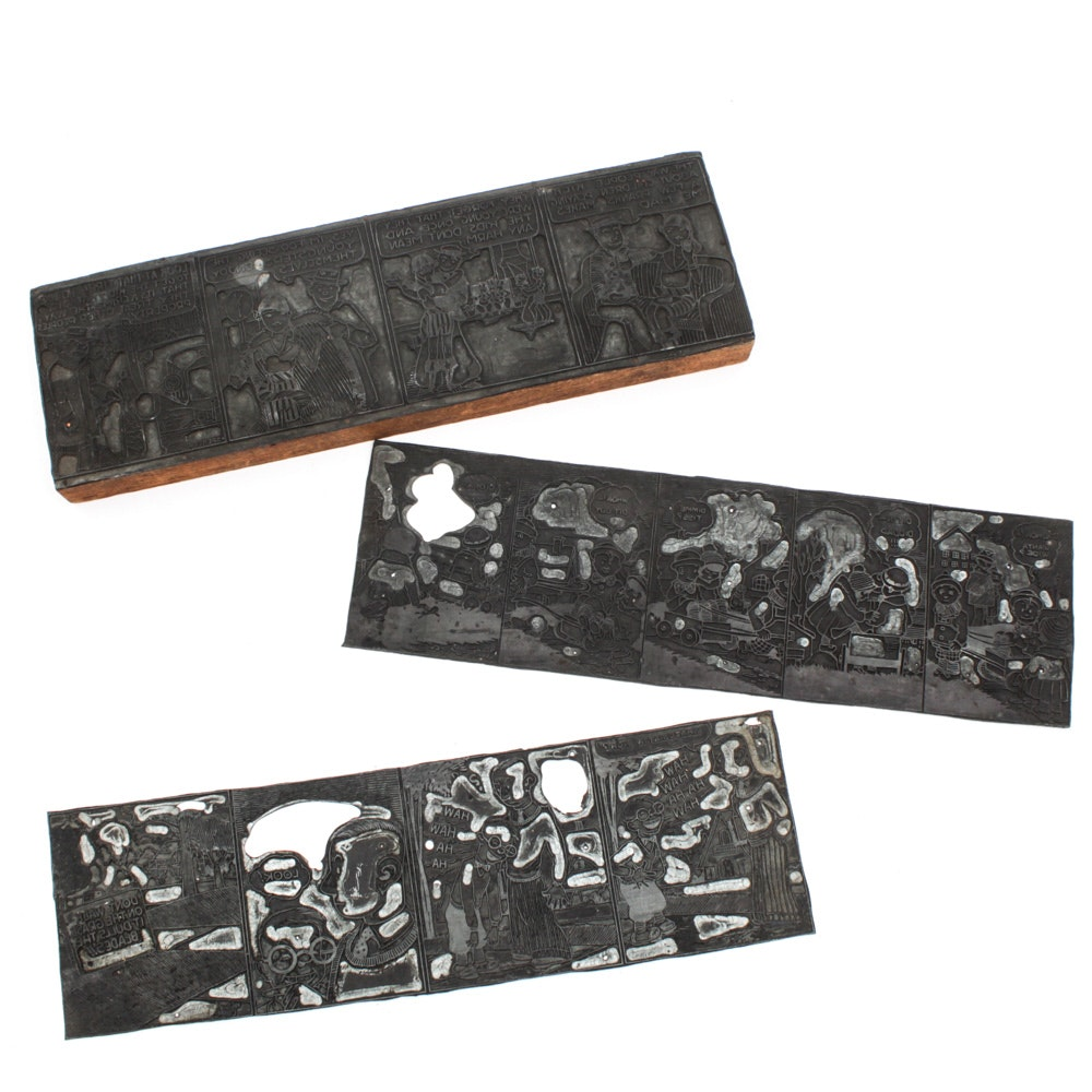 Comic Strip Printing Plates with Milton Caniff