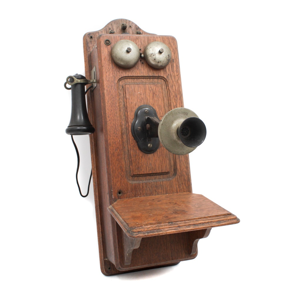 Antique Kellogg Hand Crank Wall Phone
