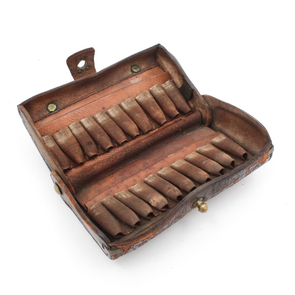 Antique Civil War Leather Ammunition Case