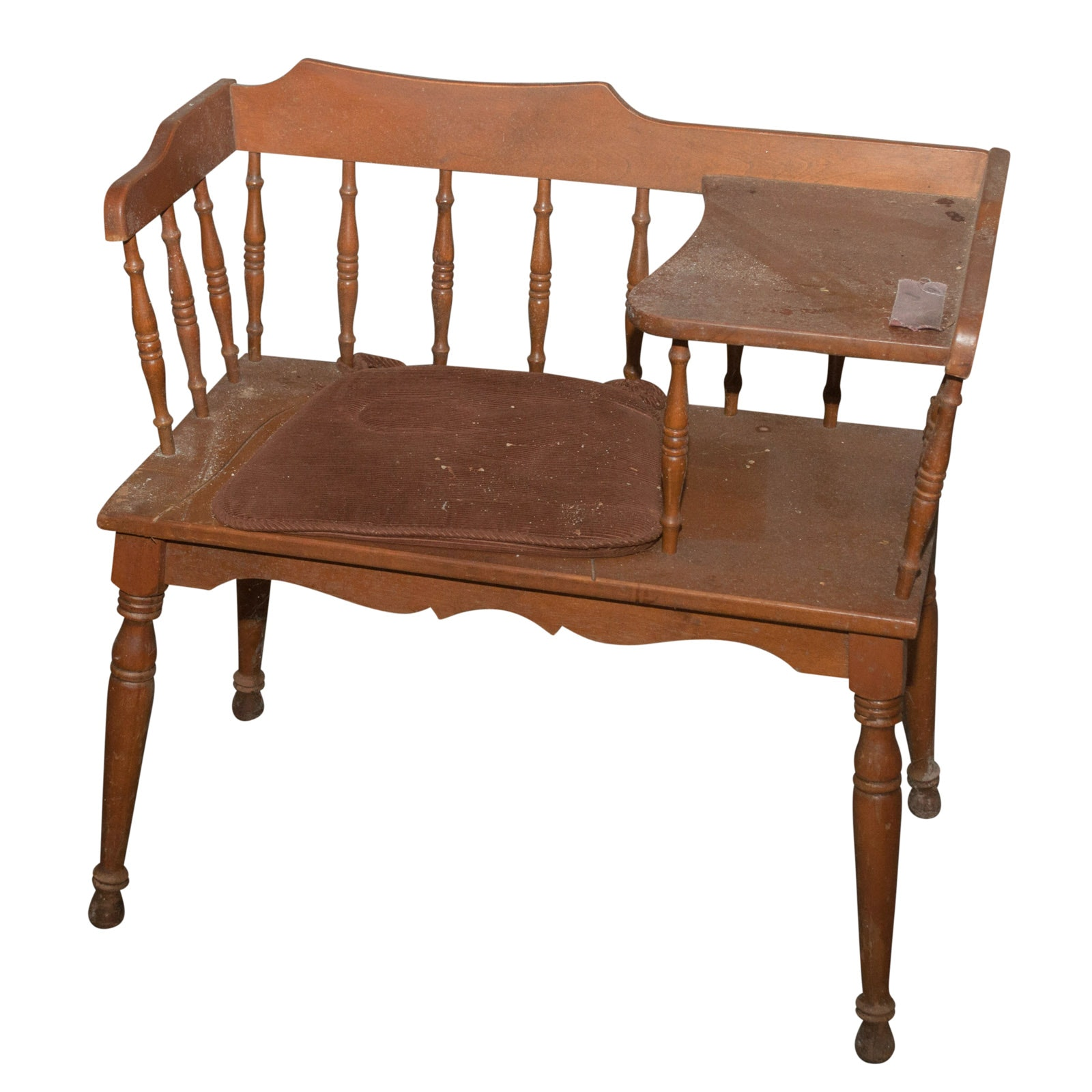 Maple Telephone Bench, Mid-20th Century