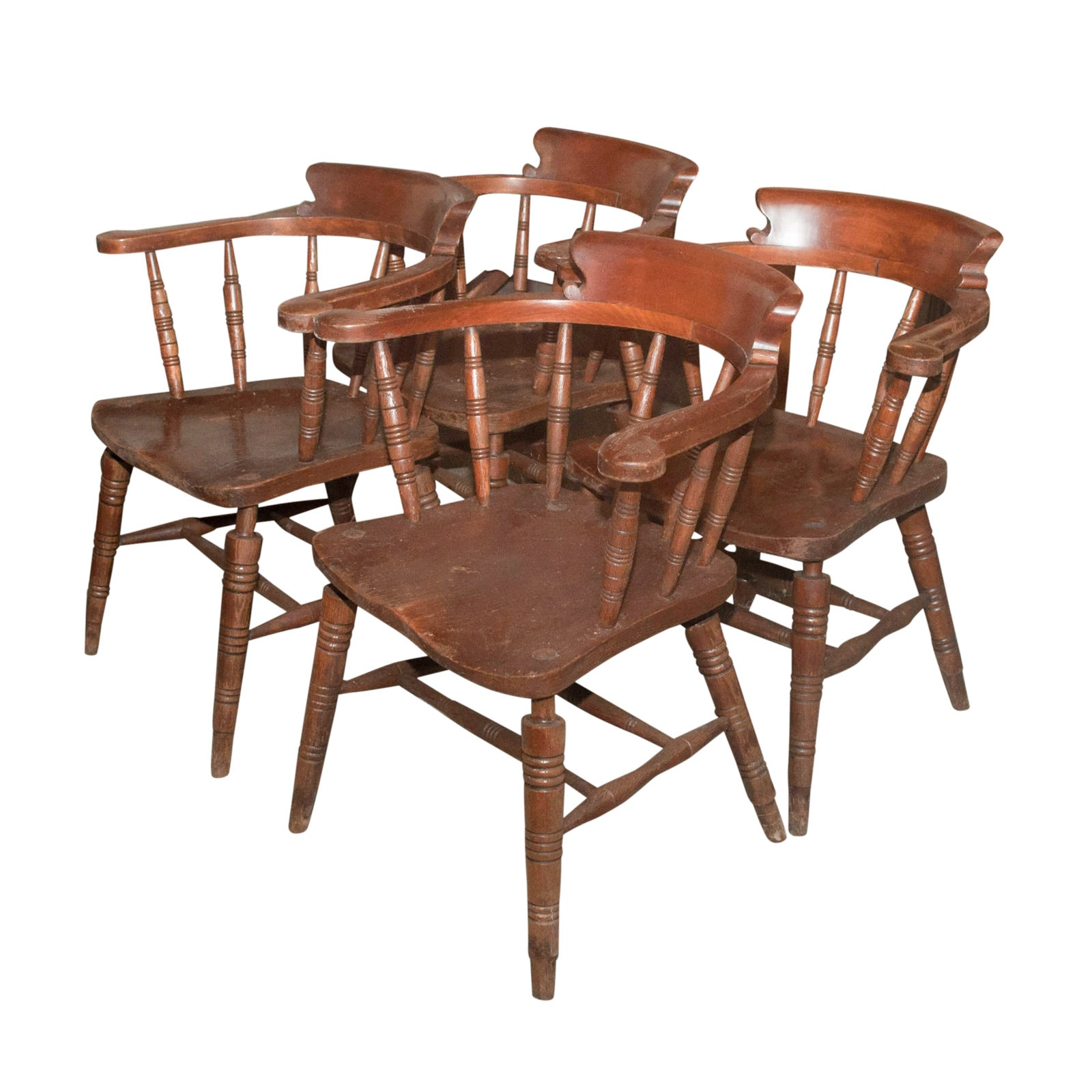 Four Maple Captain's Chairs, 20th Century