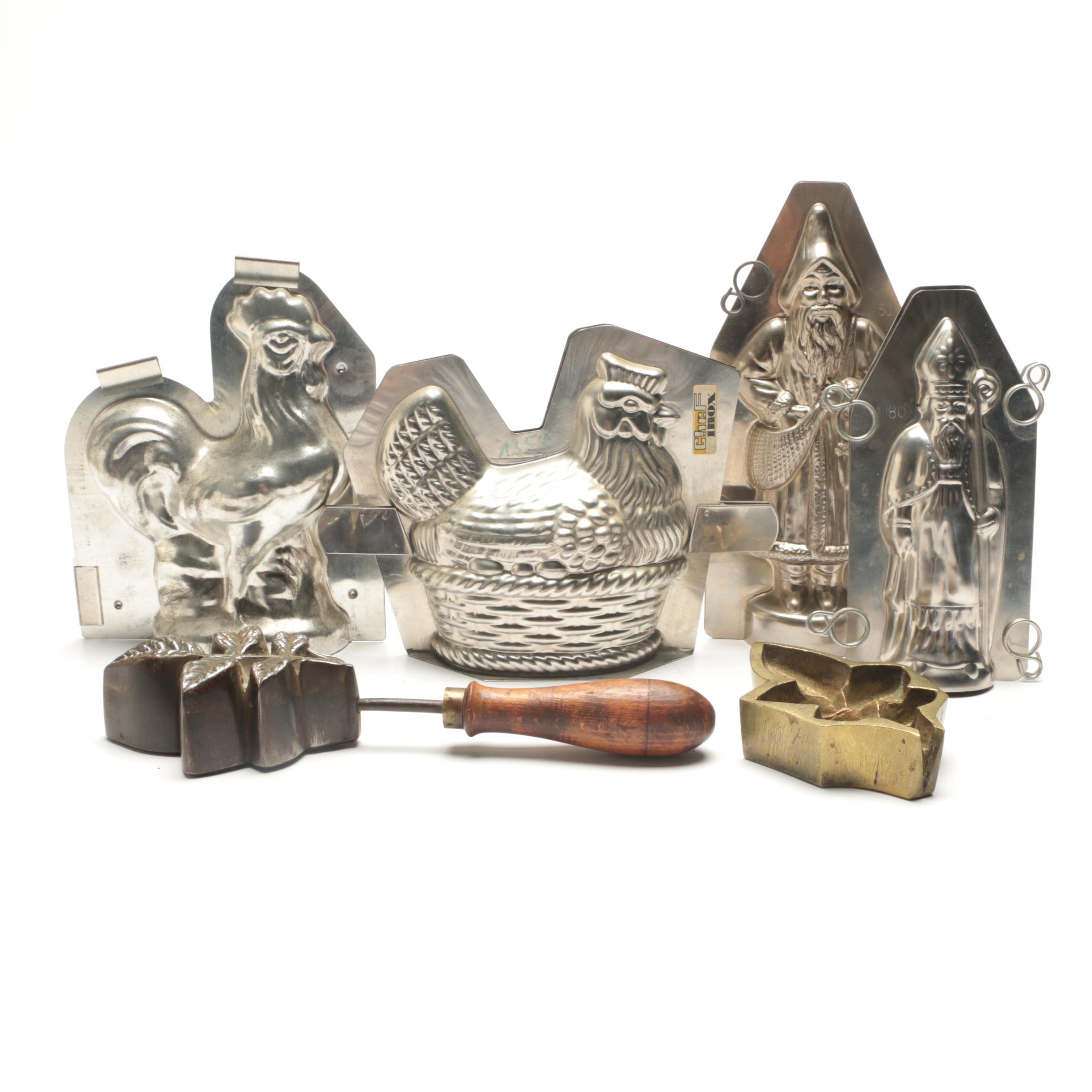 Antique and Vintage Chocolate Molds