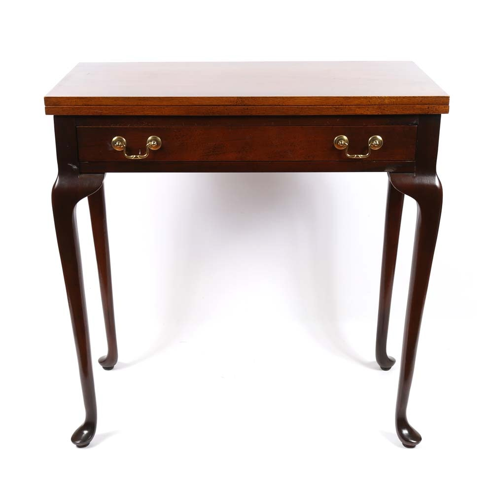 Queen Anne Style Folding Game Table