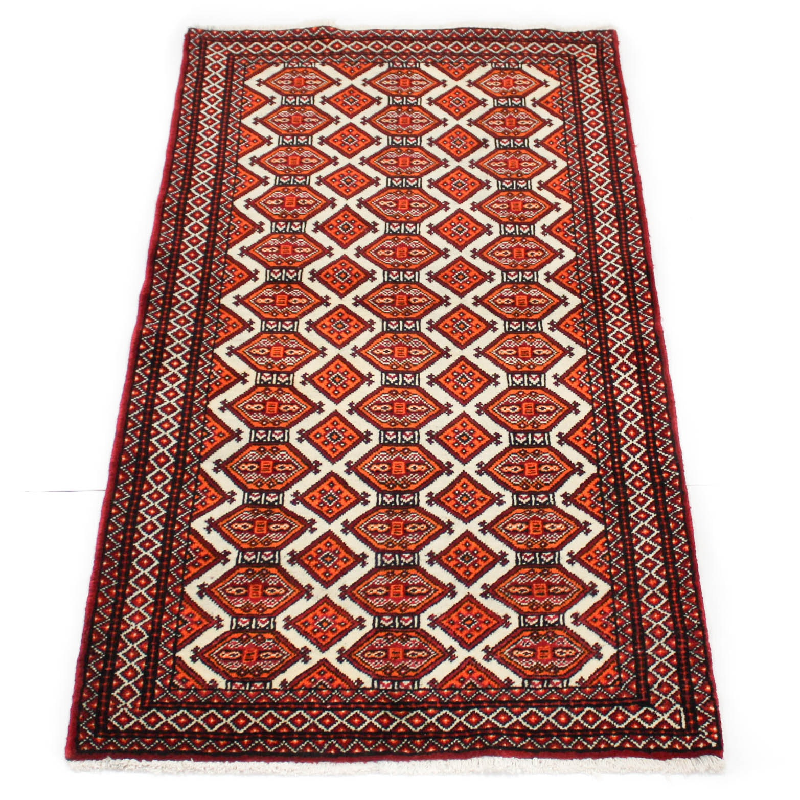 Semi-Antique Hand-Knotted Persian Baluch Area Rug