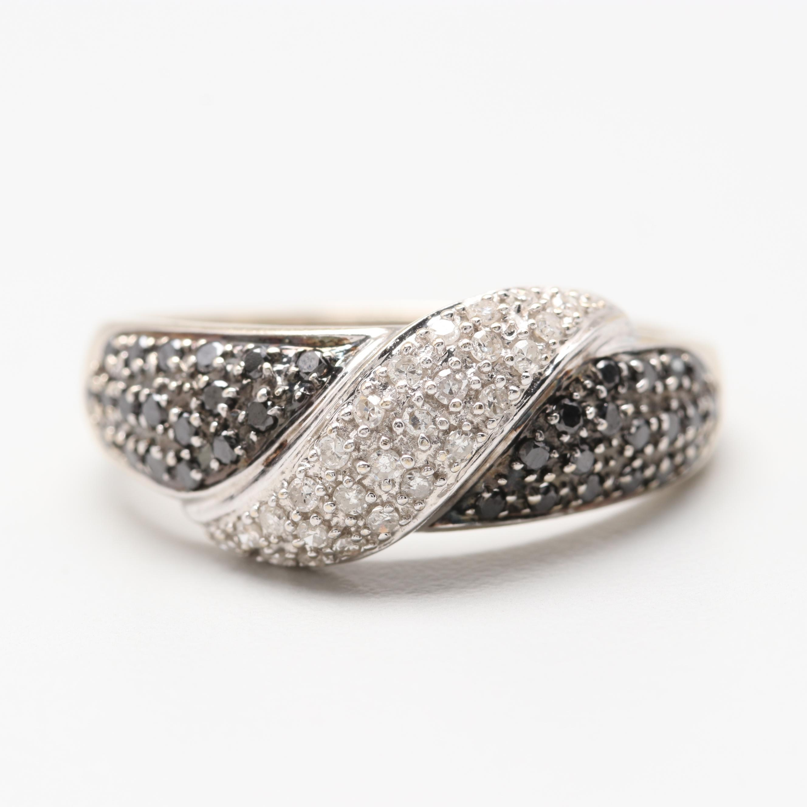 Alwand Vahan 14K Yellow Gold Diamond Ring with White Gold Accents