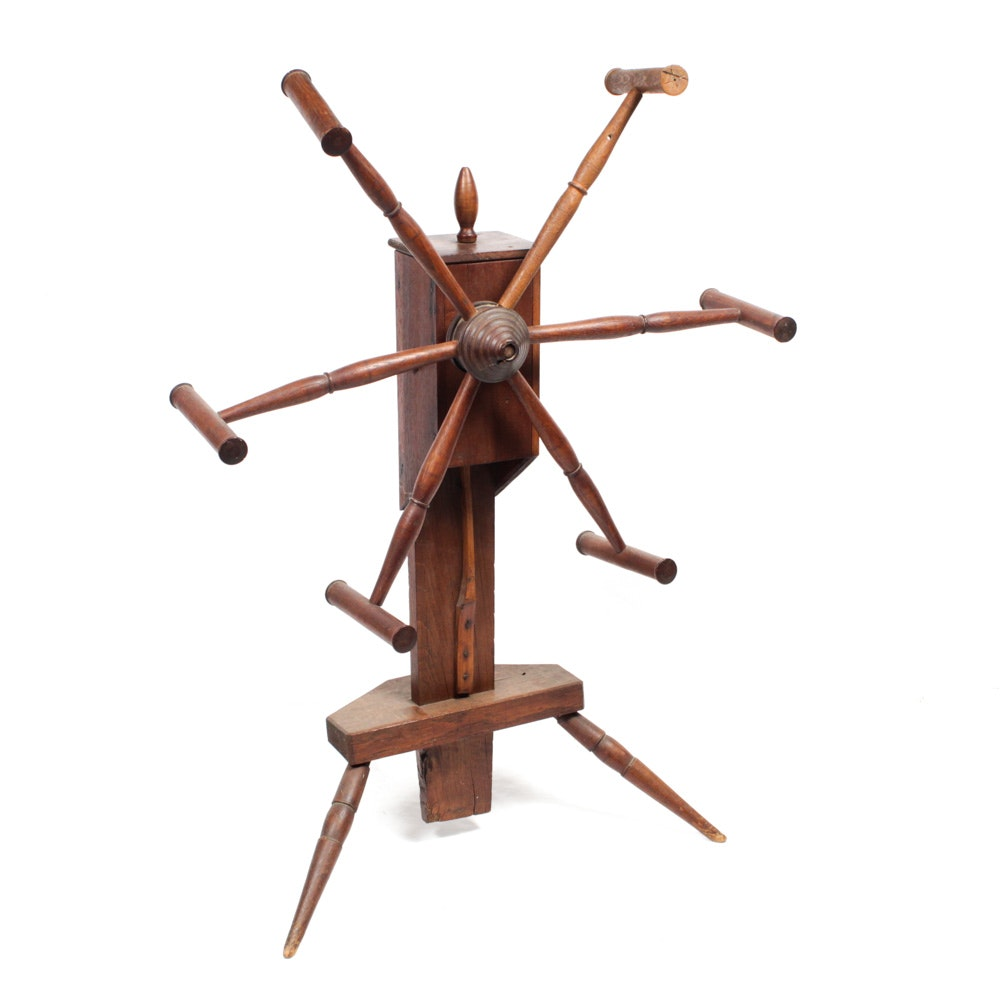 Antique Wooden Yarn Winder