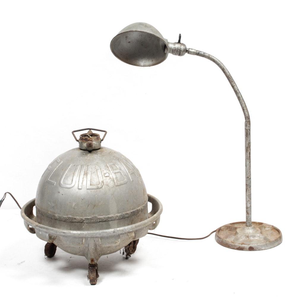 Mid Century Wagner Fluid Ball Air Brake Bleeder and Vintage Desk Lamp
