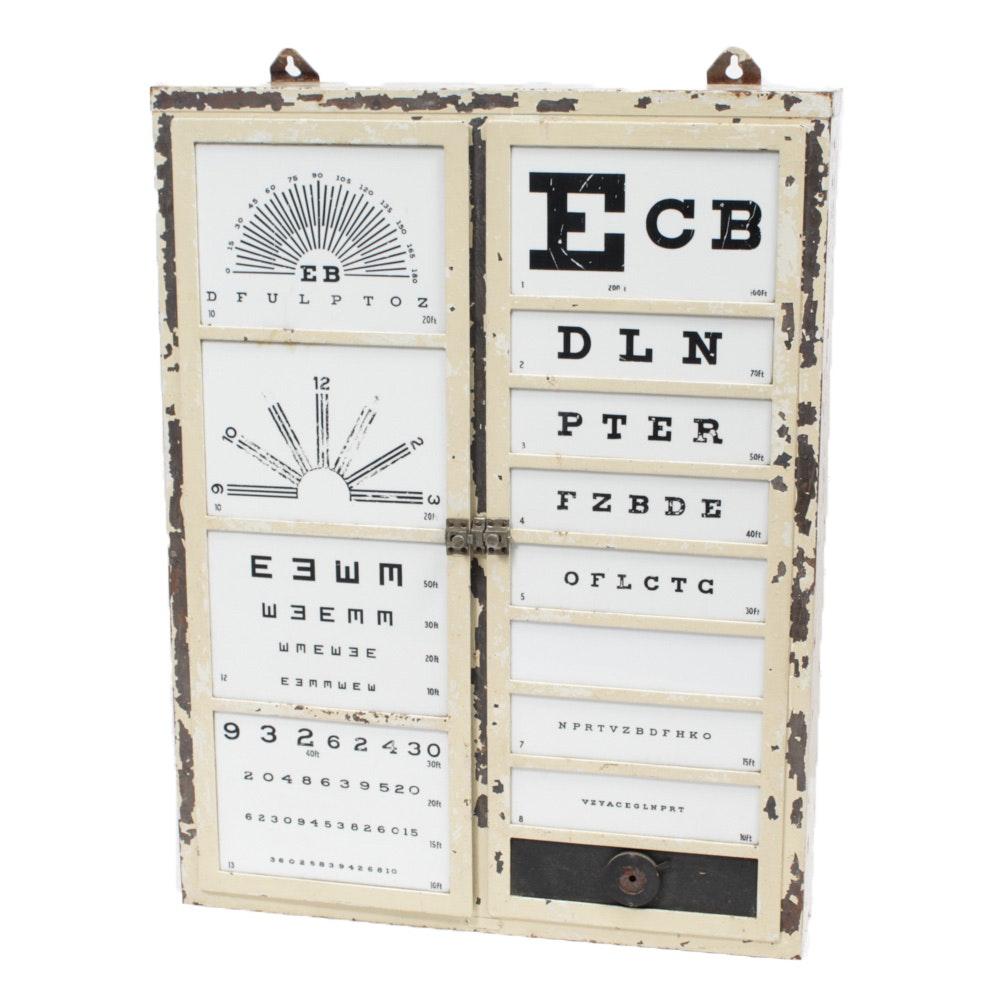 Vintage Optometrist Eyechart Cabinet