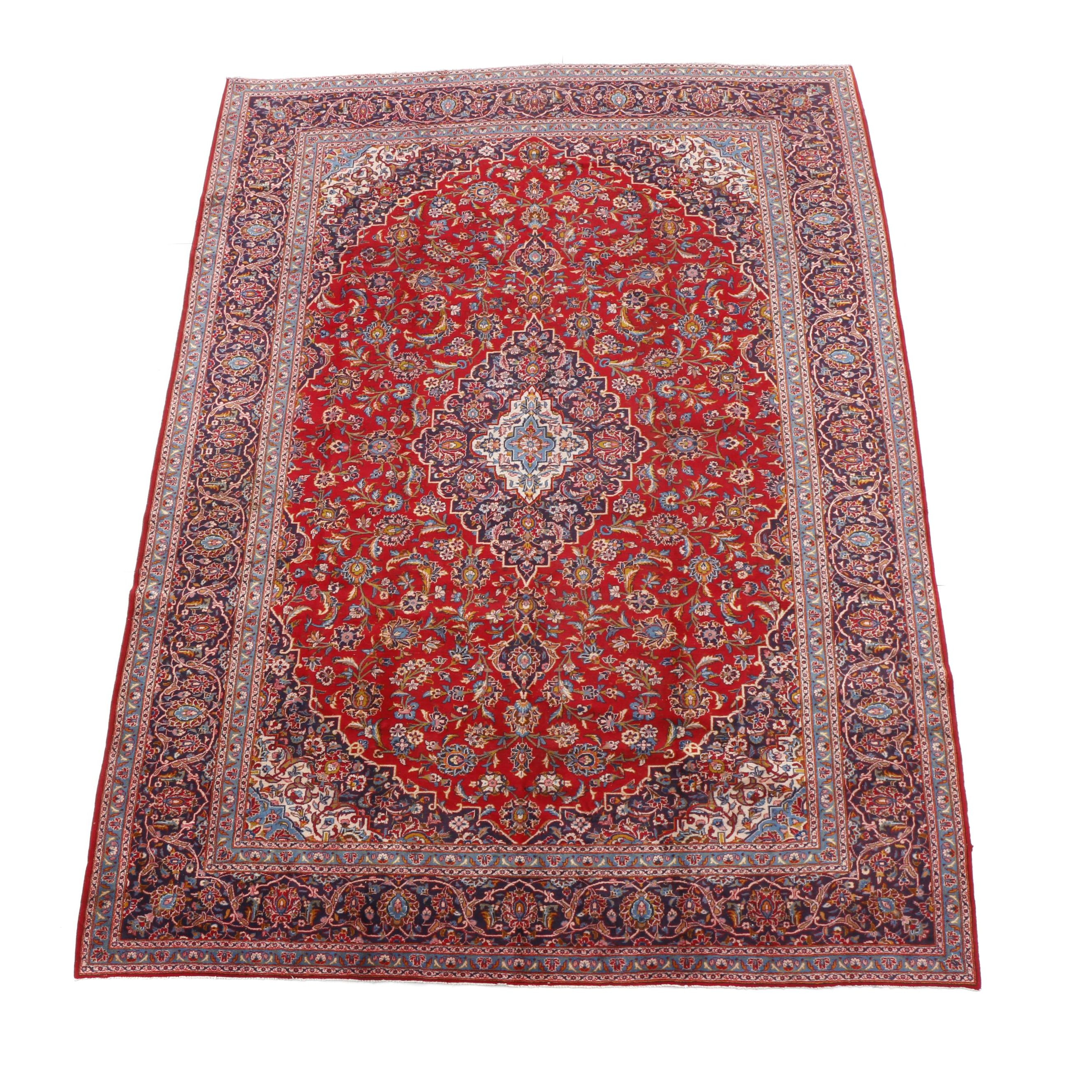 Hand-Knotted Ardekan Kashan Area Rug