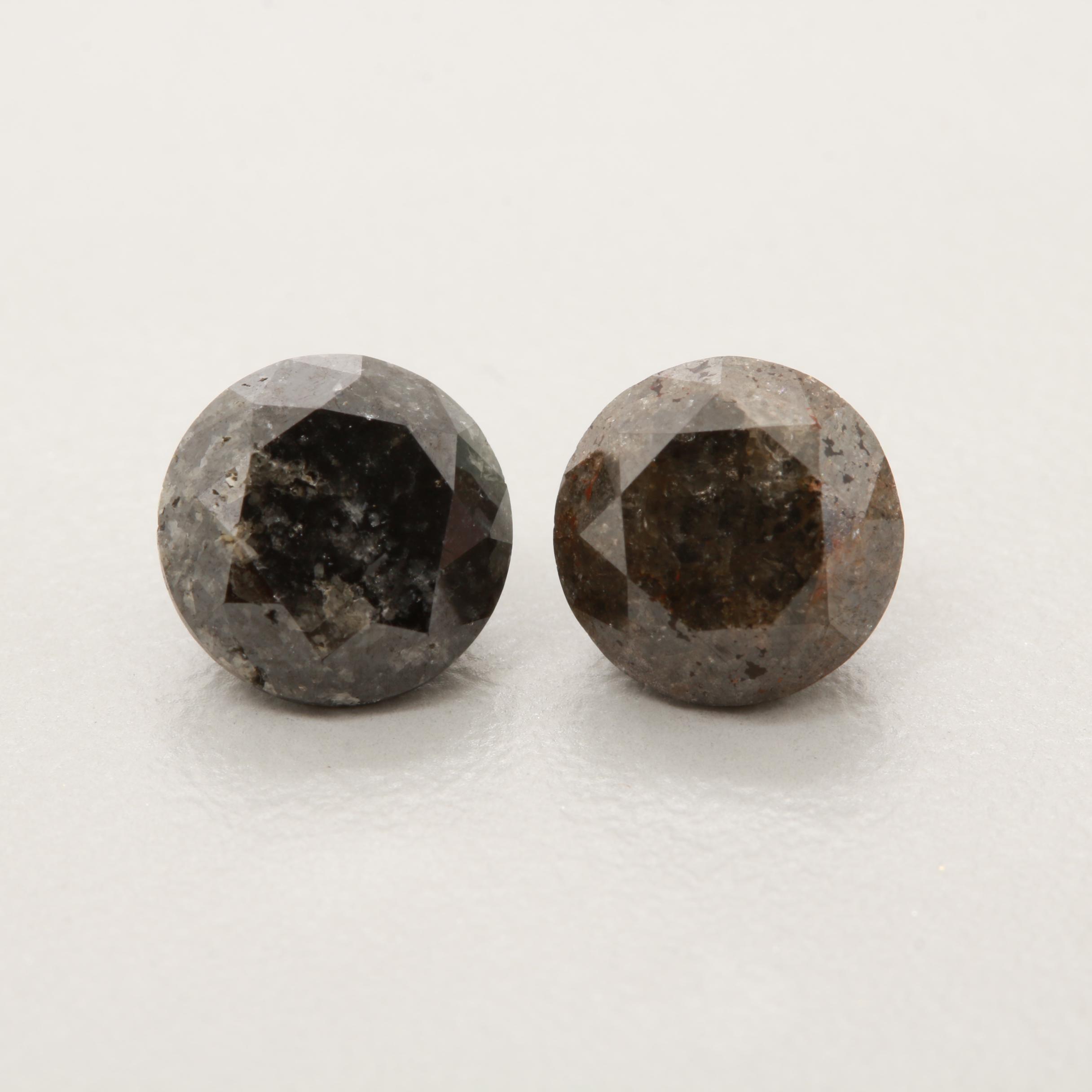 Loose 3.80 CTW Black Diamonds