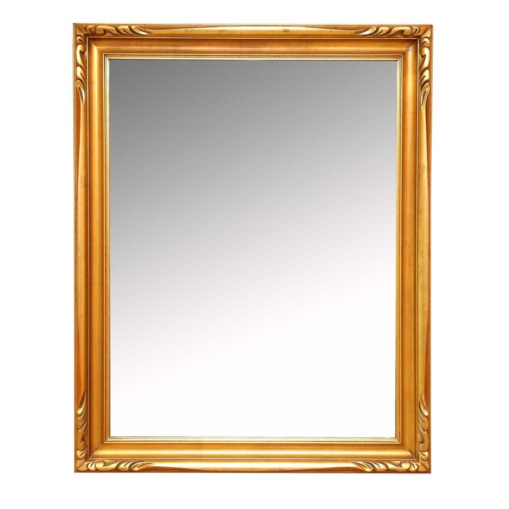 Vintage Rectangular Gilt Wall Mirror