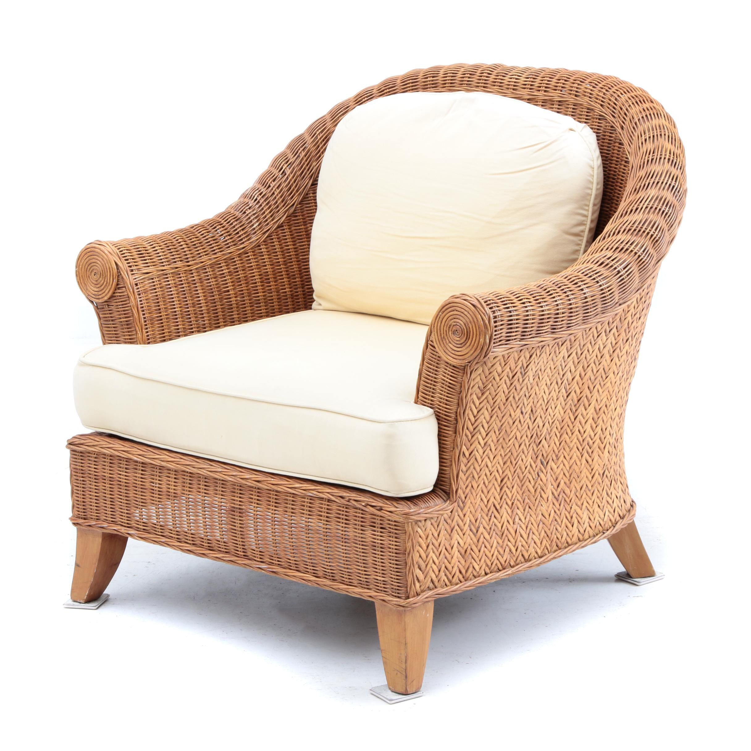 Wicker Club Chair by Ethan Allen