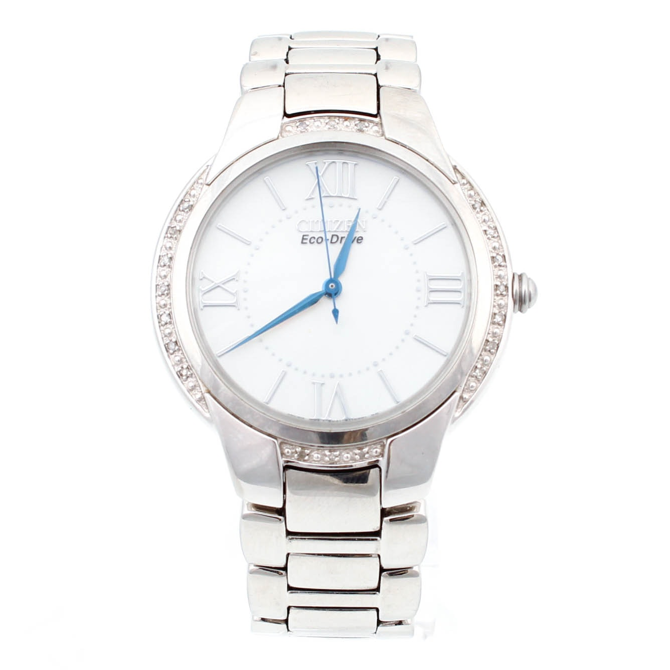 Citizen Eco-Drive Stainless Steel and Diamond Wristwatch