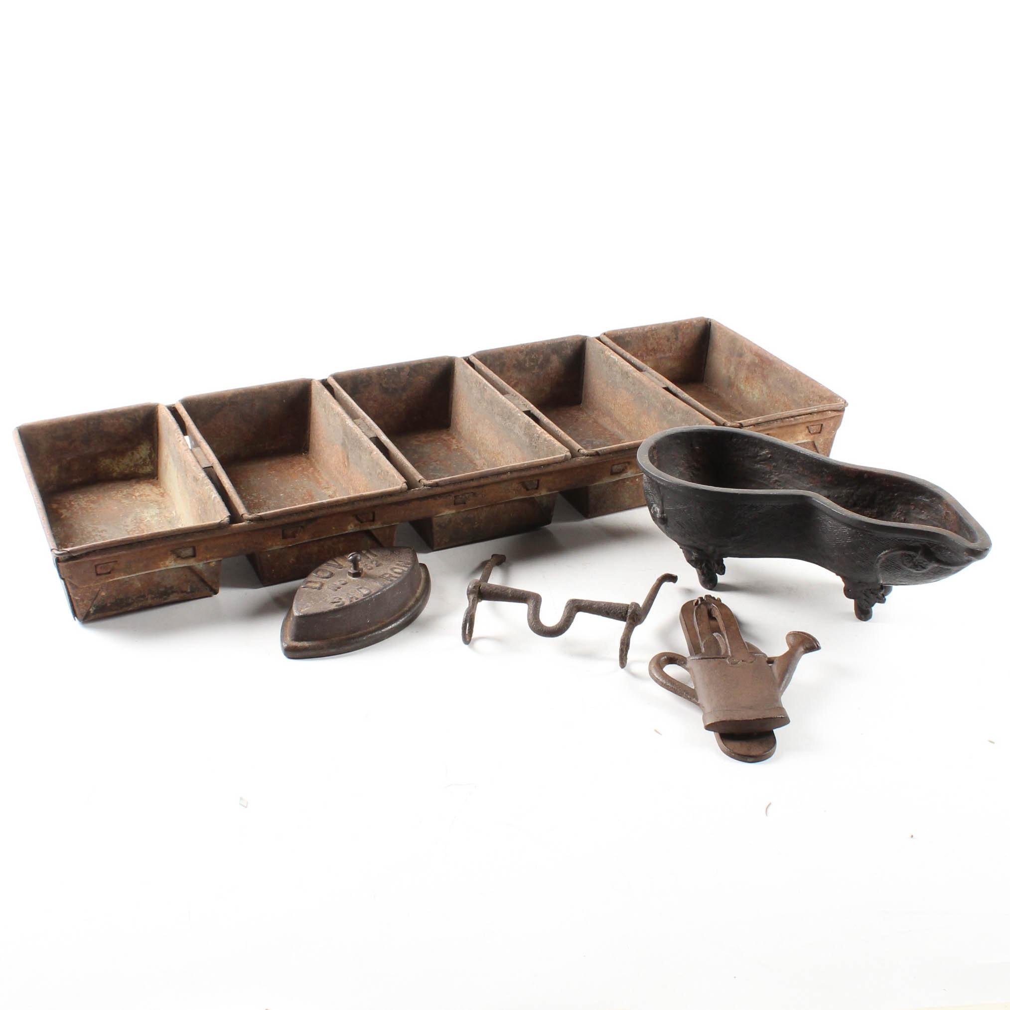 Vintage Cast Iron and Metal Primitives