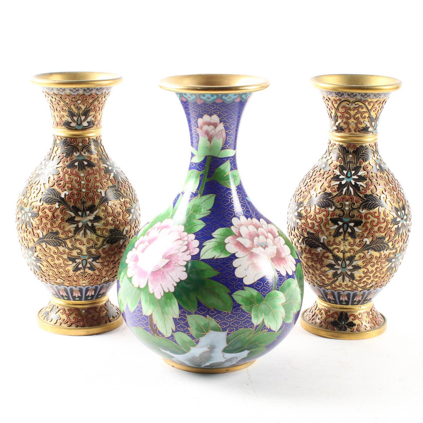East Asian Cloisonne Vases