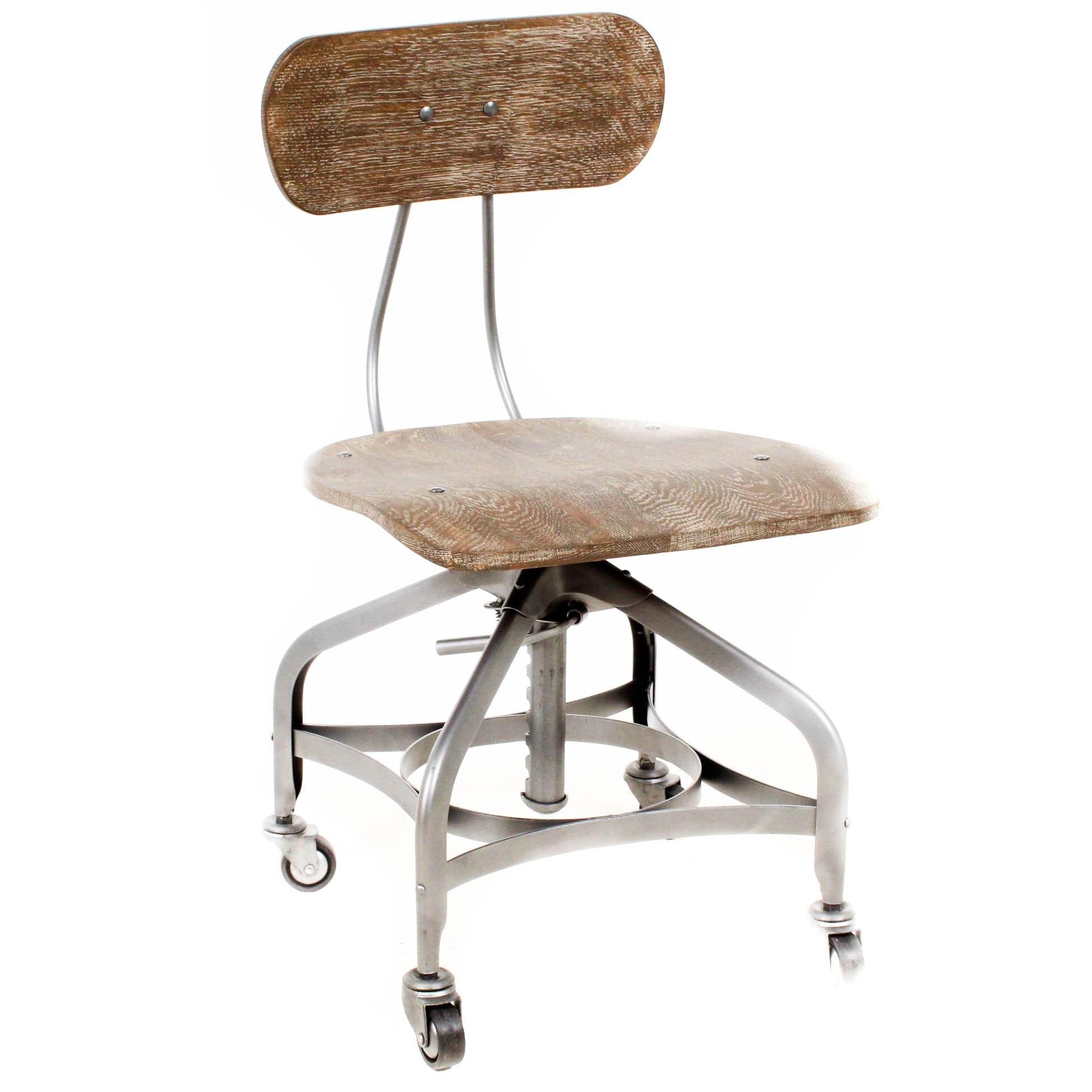 Restoration Hardware 1940 S Vintage Toledo Desk Chair Ebth