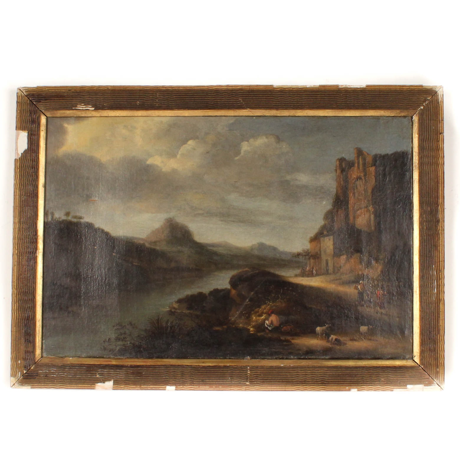 Antique Oil Painting of Landscape
