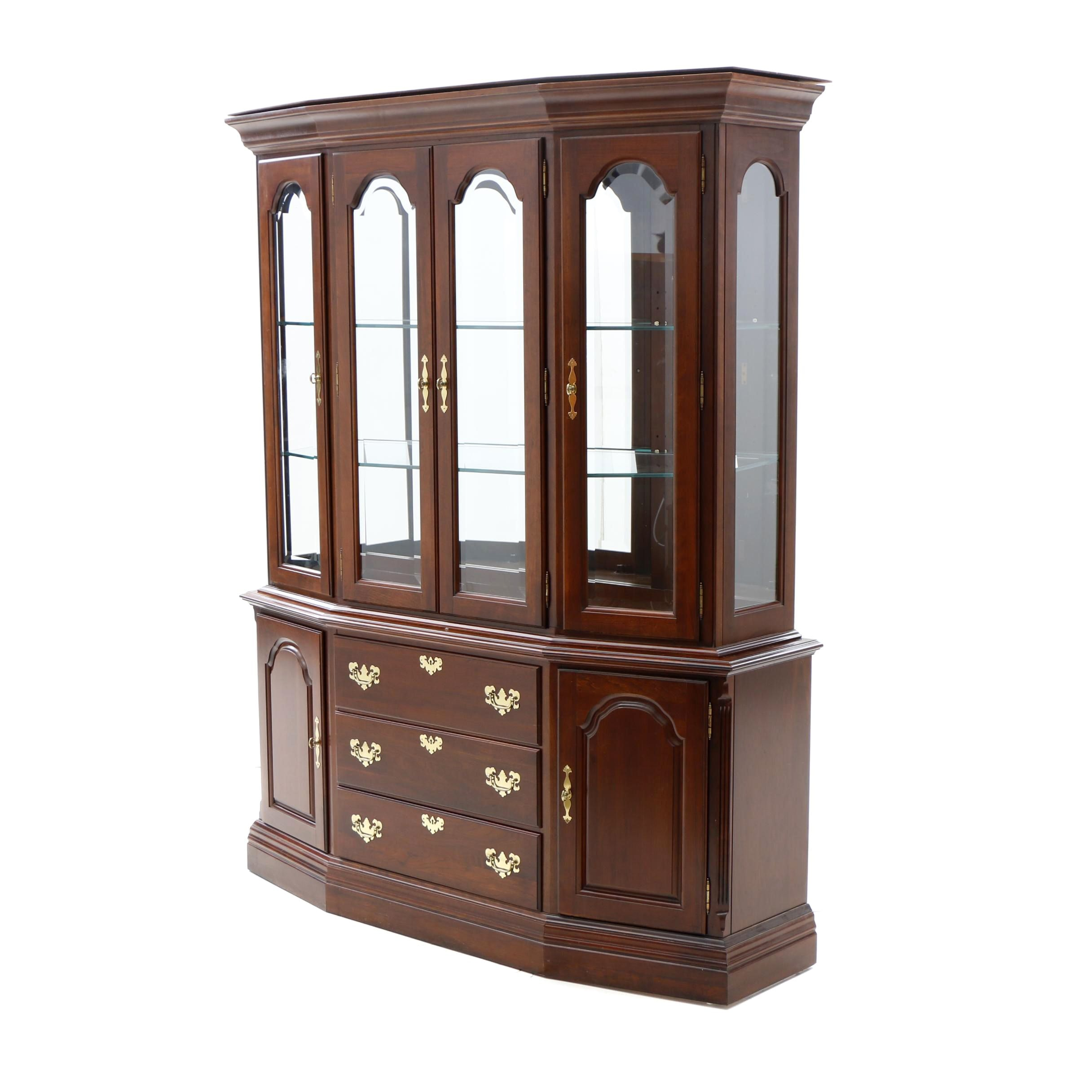 Chippendale Style Cherry China Cabinet By Kincaid ...