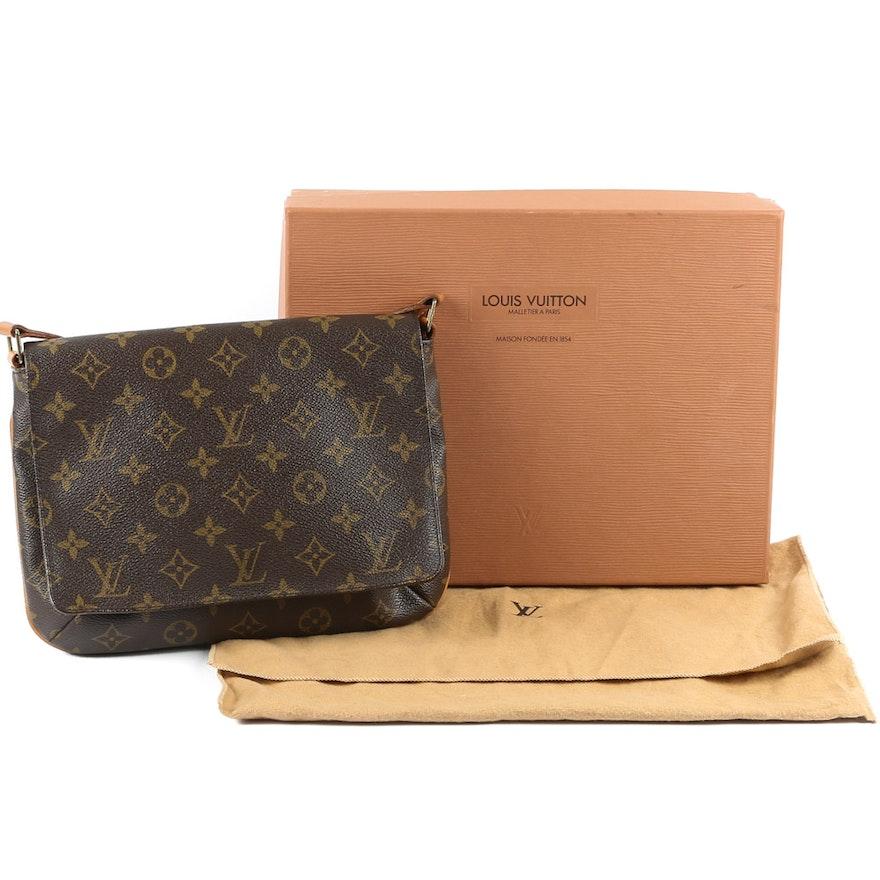1ddebcb81695 2002 Louis Vuitton of Paris Monogram Musette Tango Handbag   EBTH