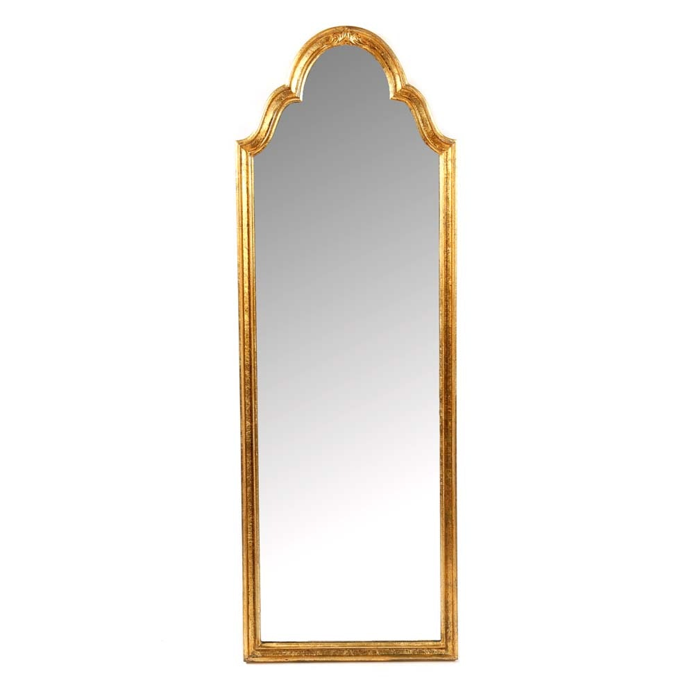 La Barge Gilt Arched Wall Mirror