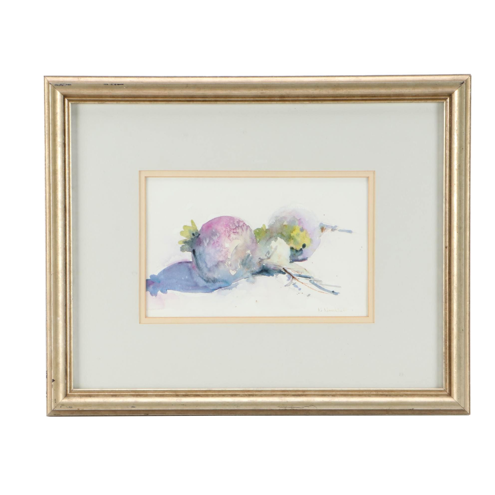 "Nancy Nordloh Neville Watercolor Painting ""From George's Garden"""