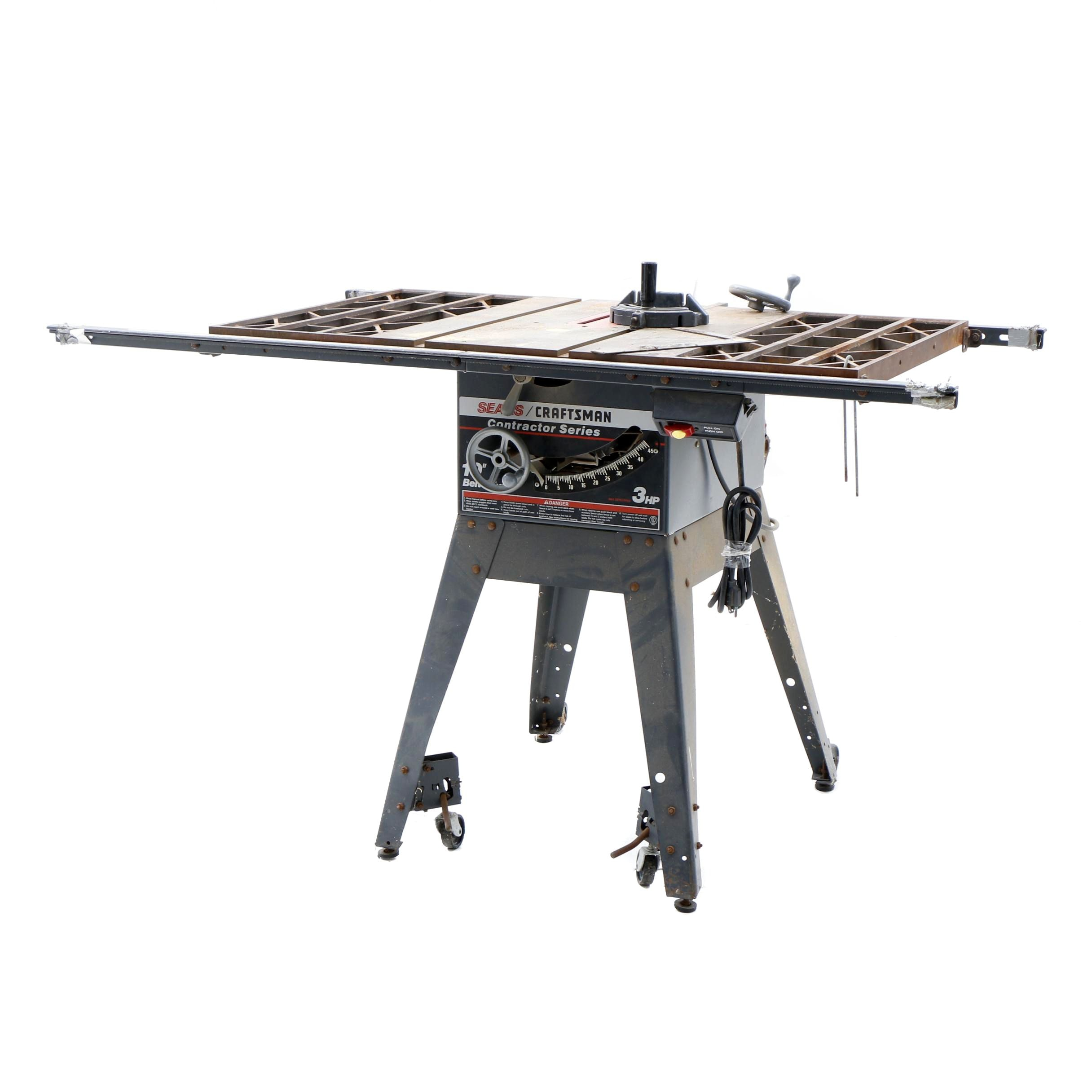 "Sears Craftsmen 10"" Belt Drive Table Saw"