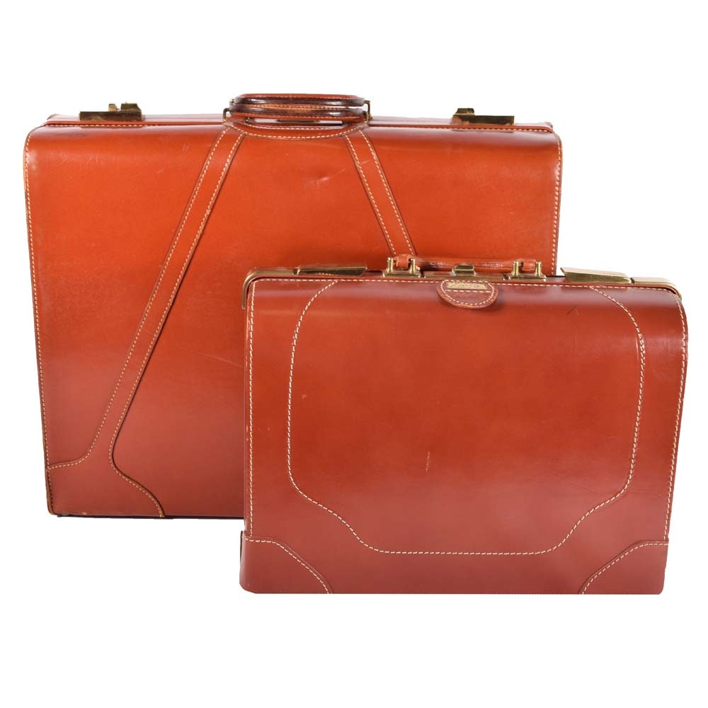 Oshkosh and Westminster Leather Suitcases