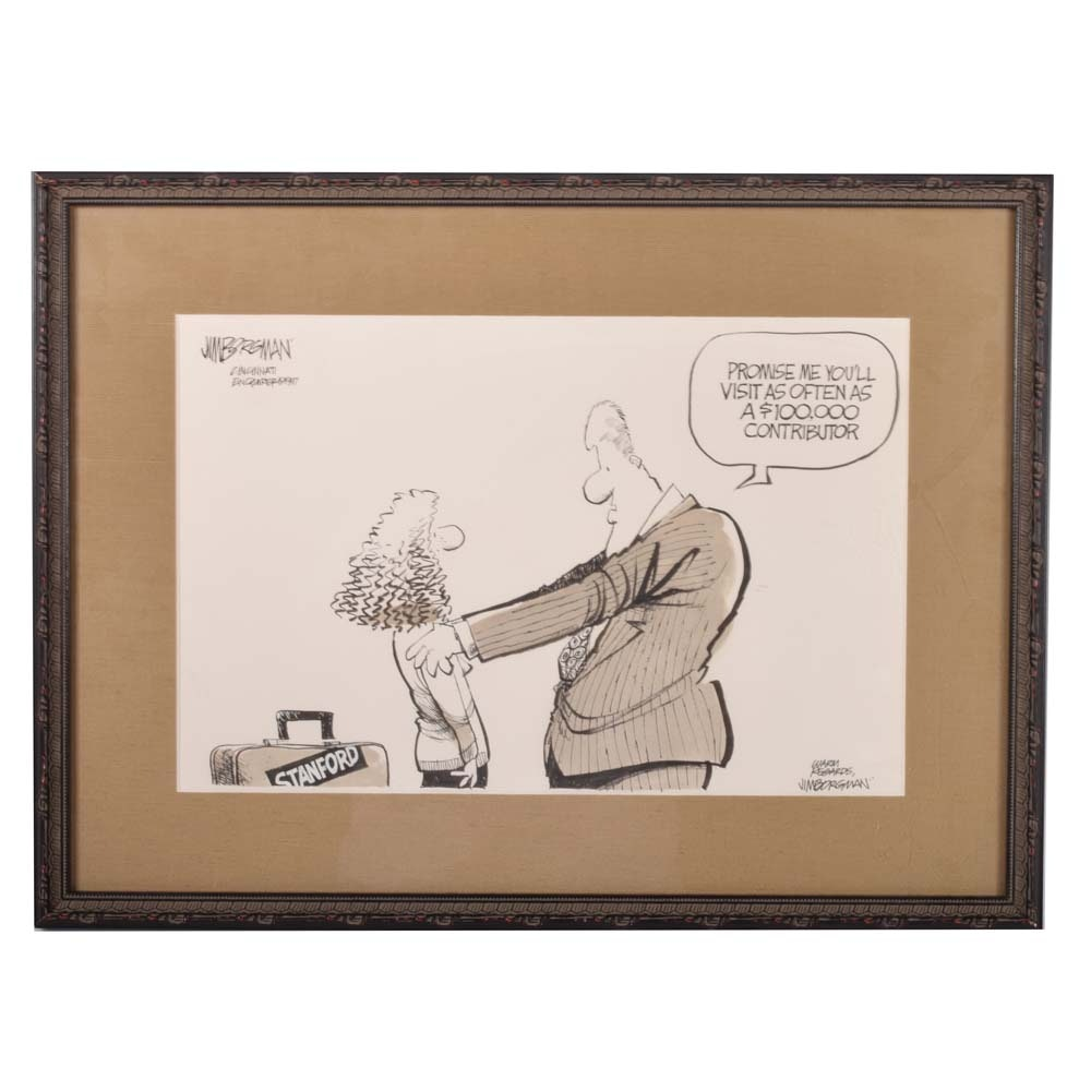 Jim Borgman Editorial Cartoon Lithograph