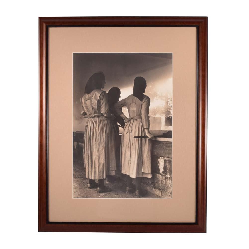 "Jack Stoddart Silver Gelatin Photograph ""Amish Women"""