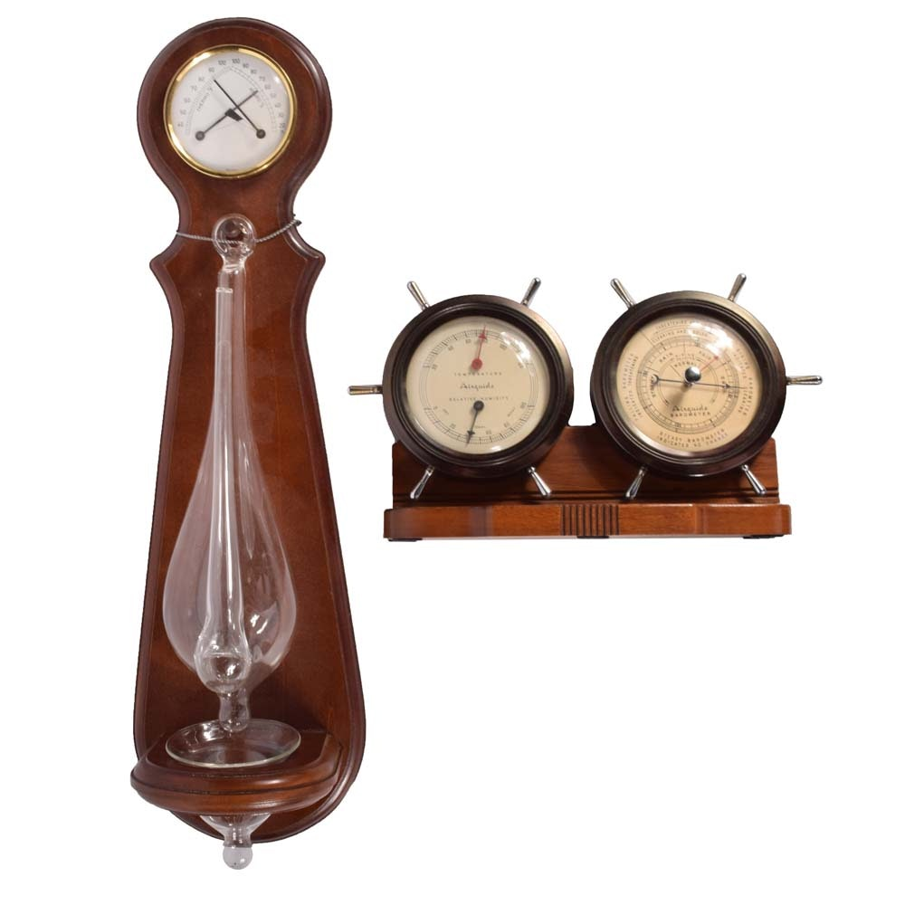 Barometers Featuring Vintage Airguide