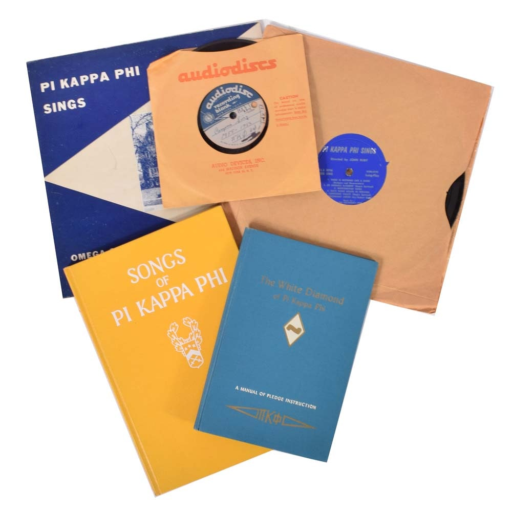 Vintage Pi Kappa Phi Fraternity Records and Memorabilia