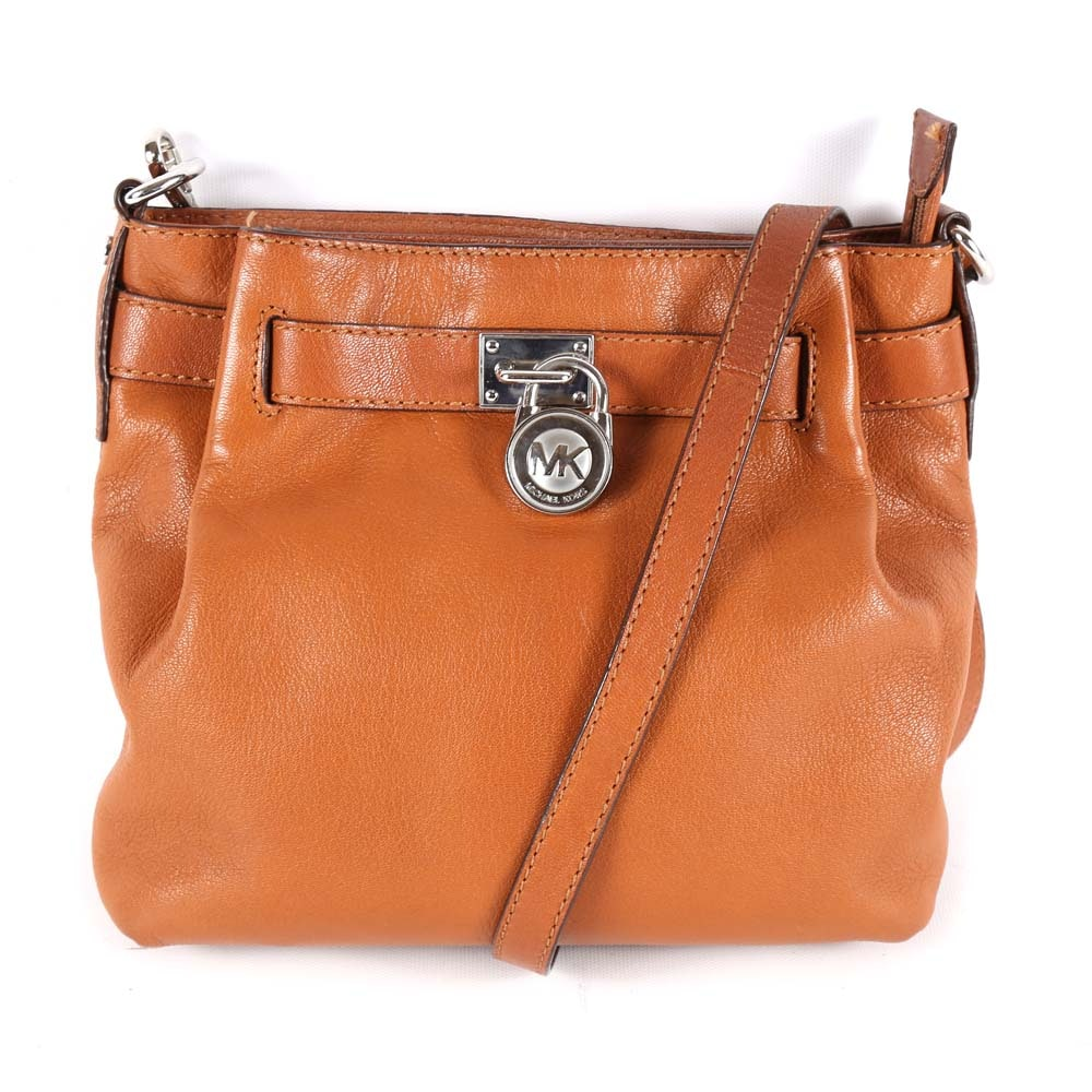 MICHAEL Michael Kors Tan Leather Crossbody Handbag