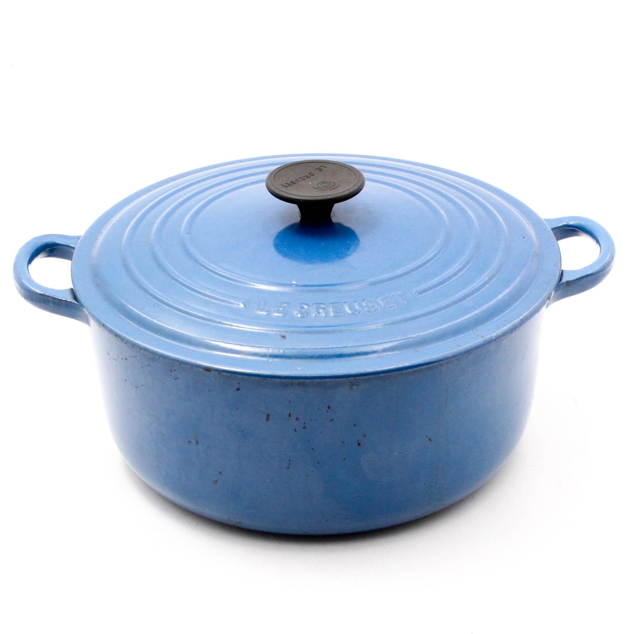 Le Creuset Blue Enameled Cast Iron Dutch Oven