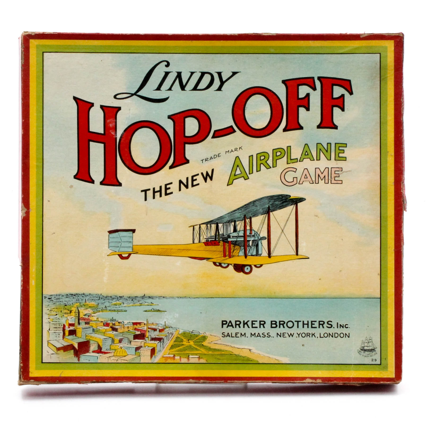 "1927 Charles Lindbergh ""Lindy Hop-Off: The New Airplane Game"" Board Game"