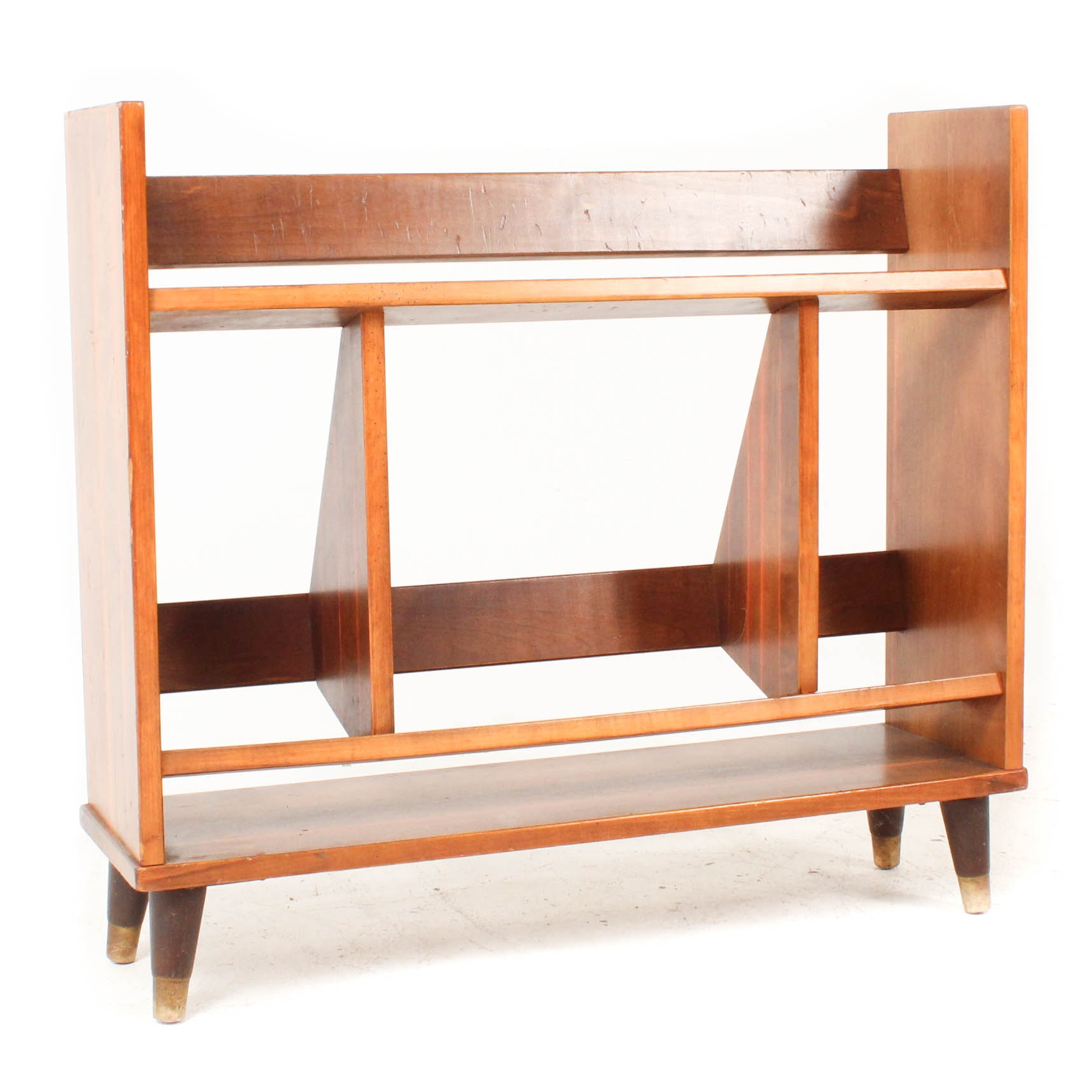 Mid Century Modern Wooden Book Rack