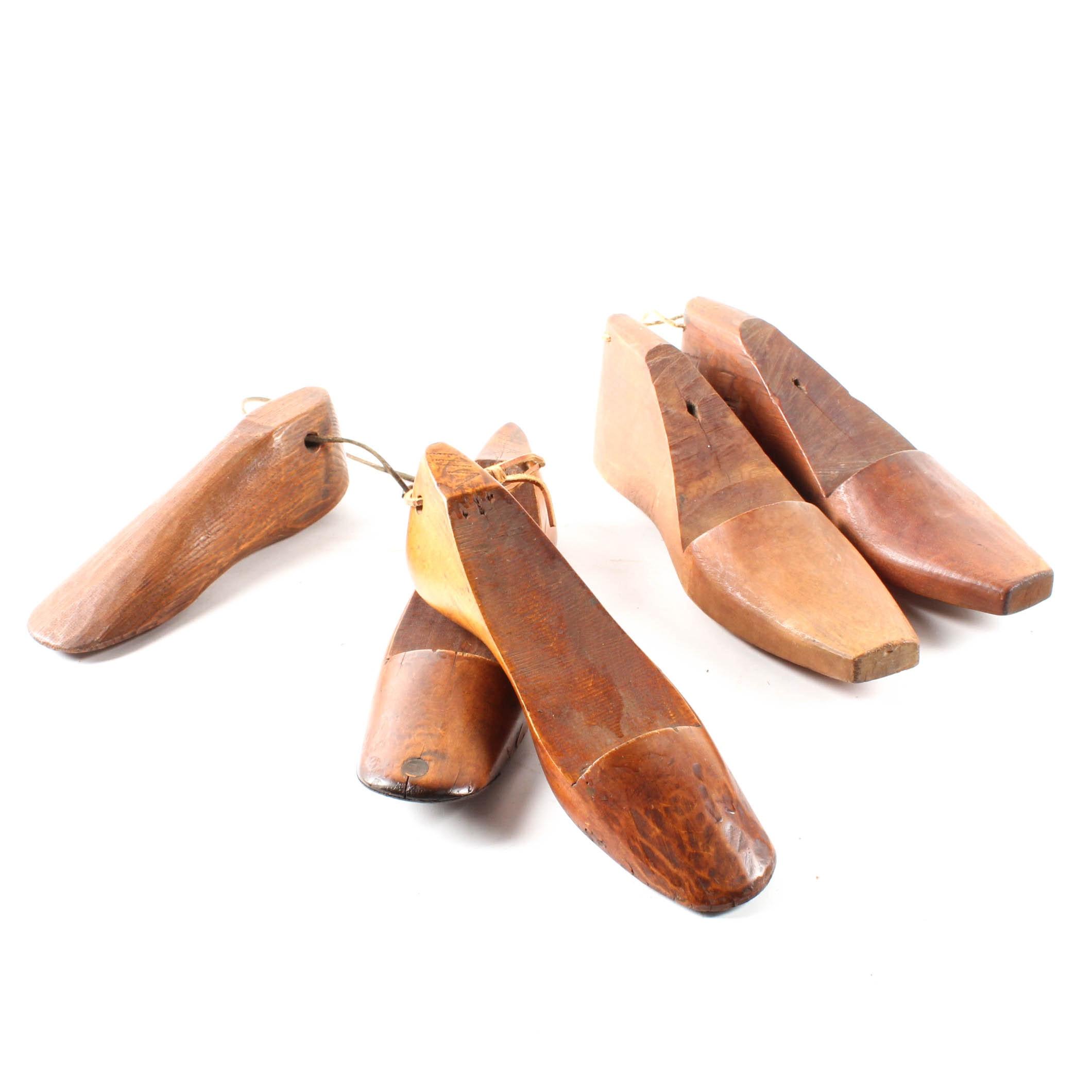 Vintage Wooden Cobbler Shoe Forms
