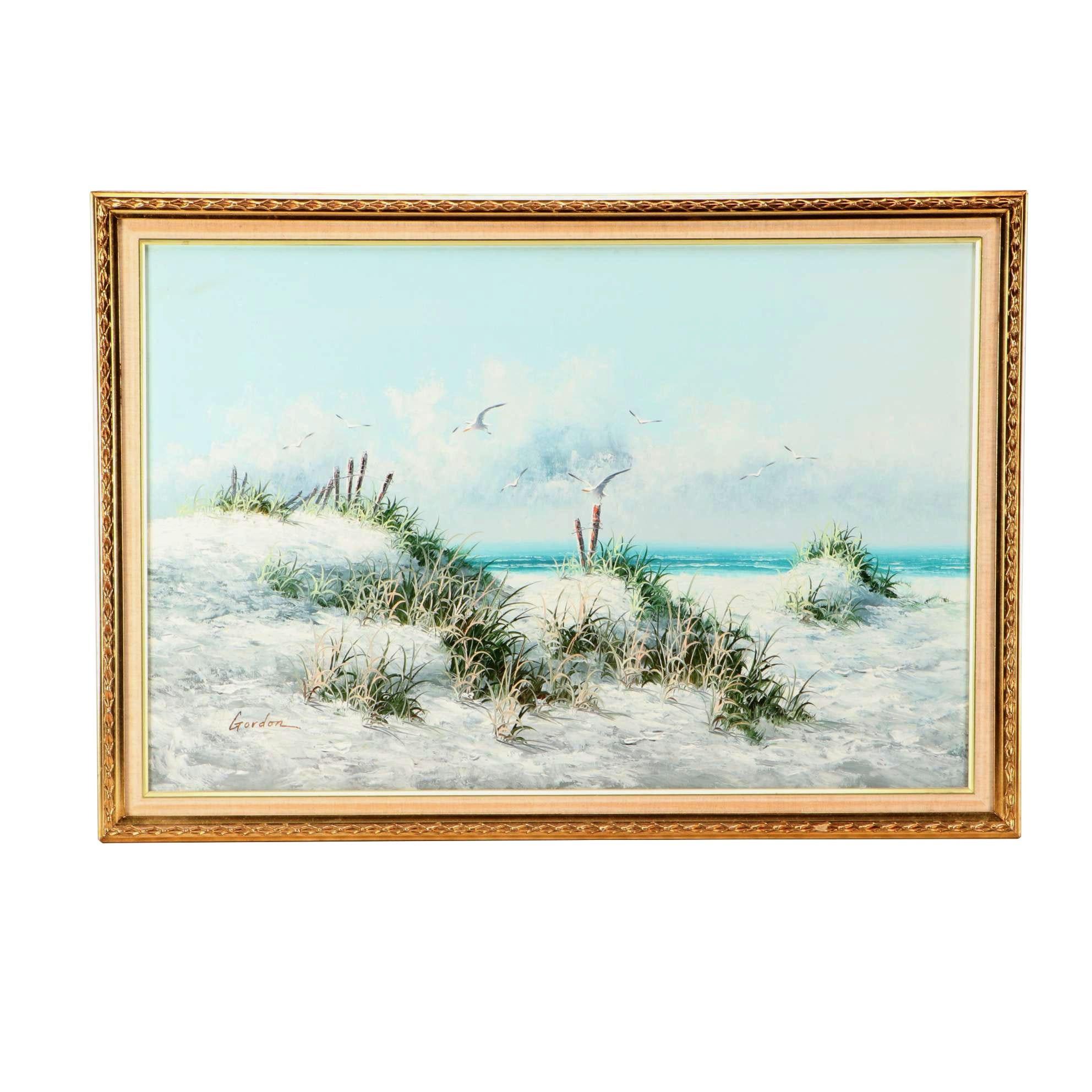 Gordon Oil Painting of Coastal Scene