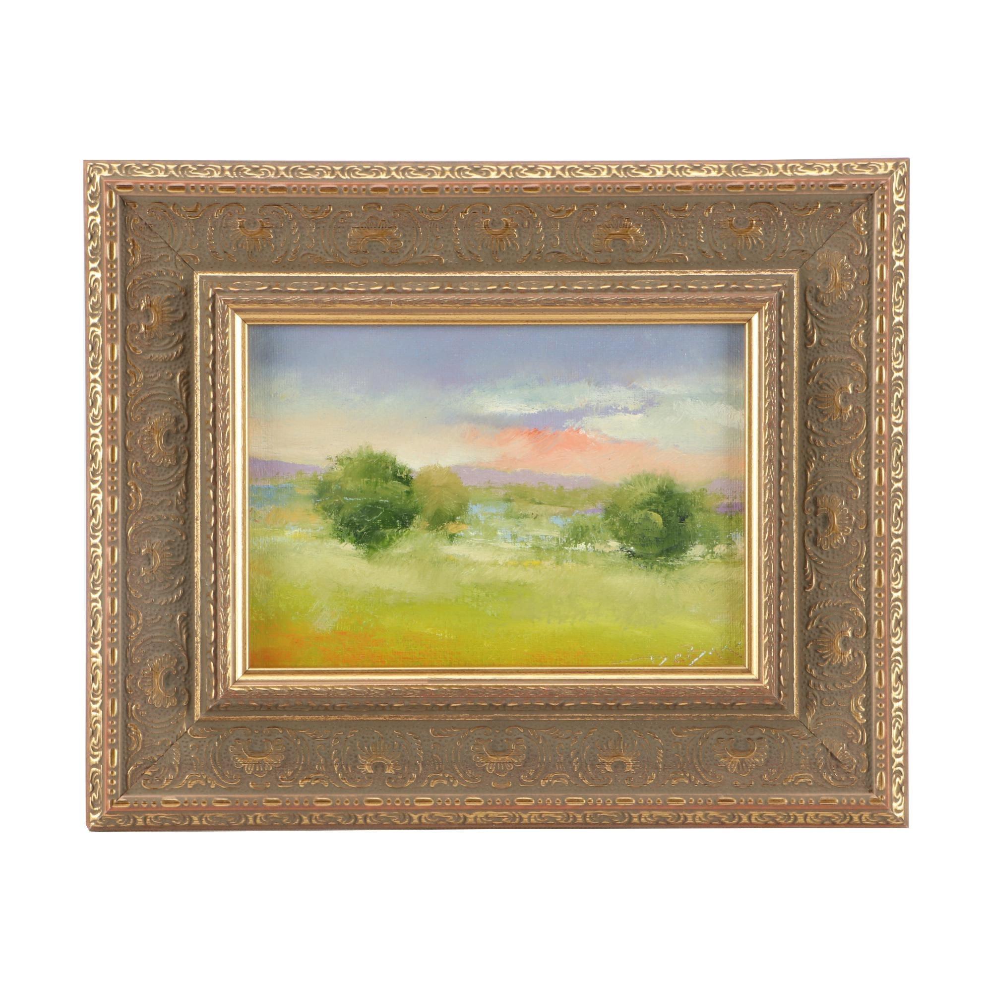"Mark DeBak Plein Air Oil Landscape Painting ""Memorial Day 2018"""