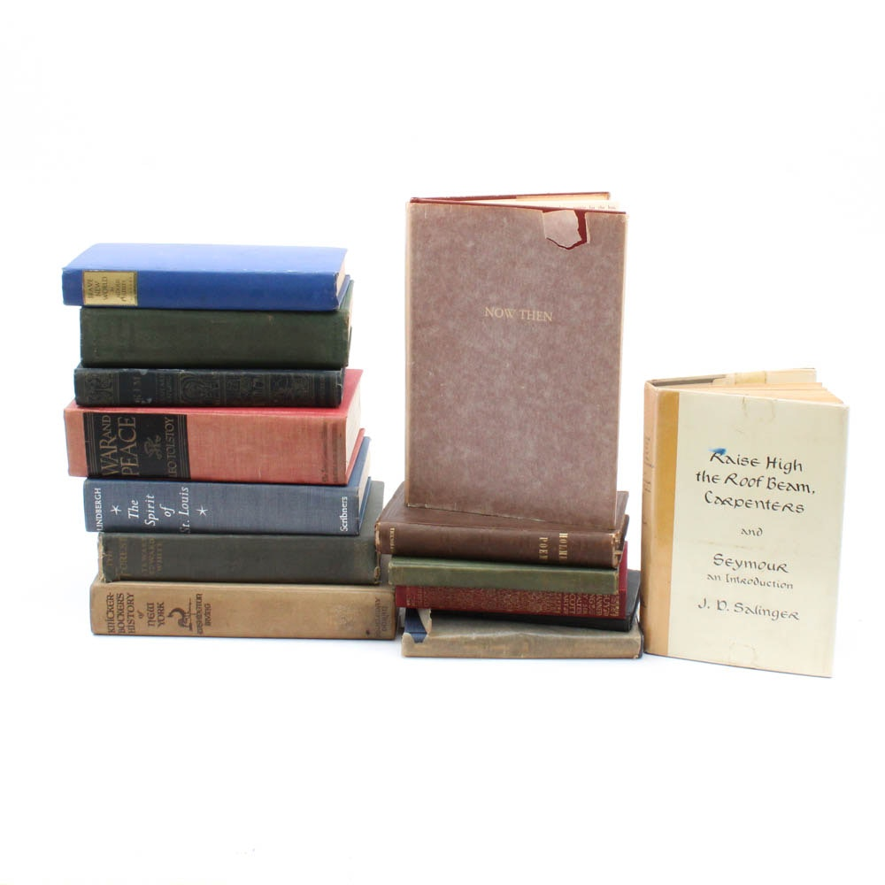 Antique and Vintage Hardcover Fiction and Poetry Selection