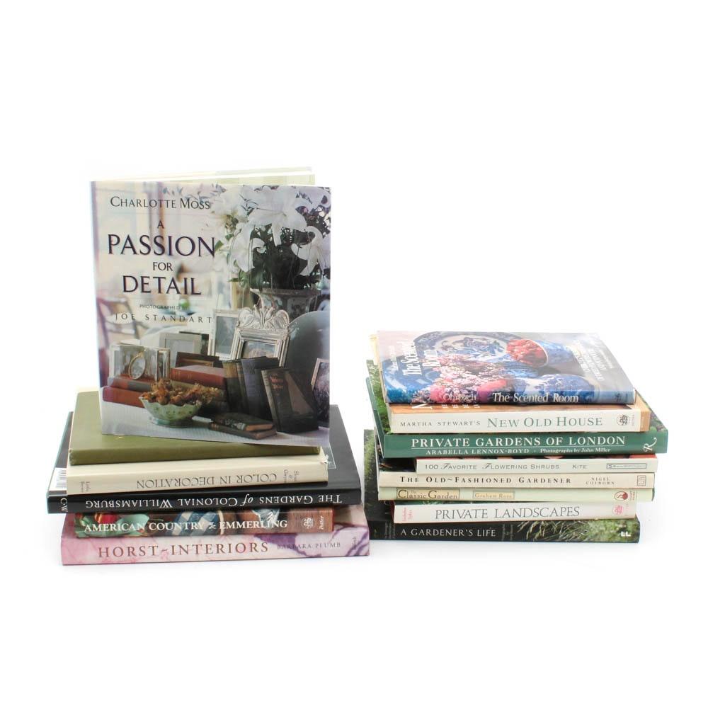 Hardcover Landscape and Interior Design Books