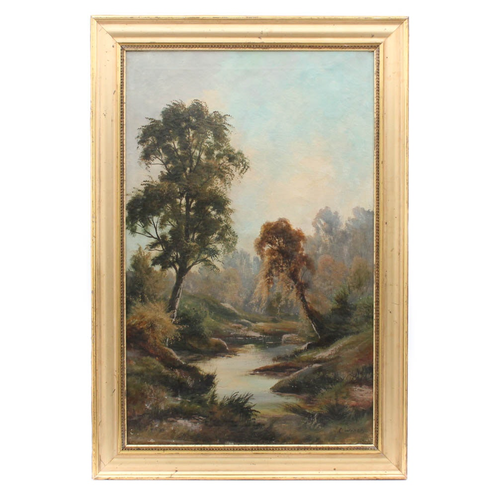 C. Winch Landscape Oil Painting