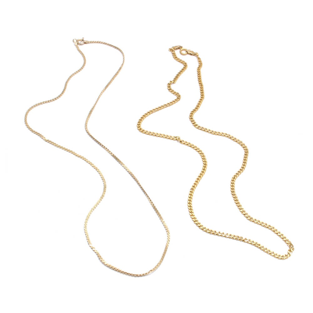Gold Wash on Sterling Silver Necklaces