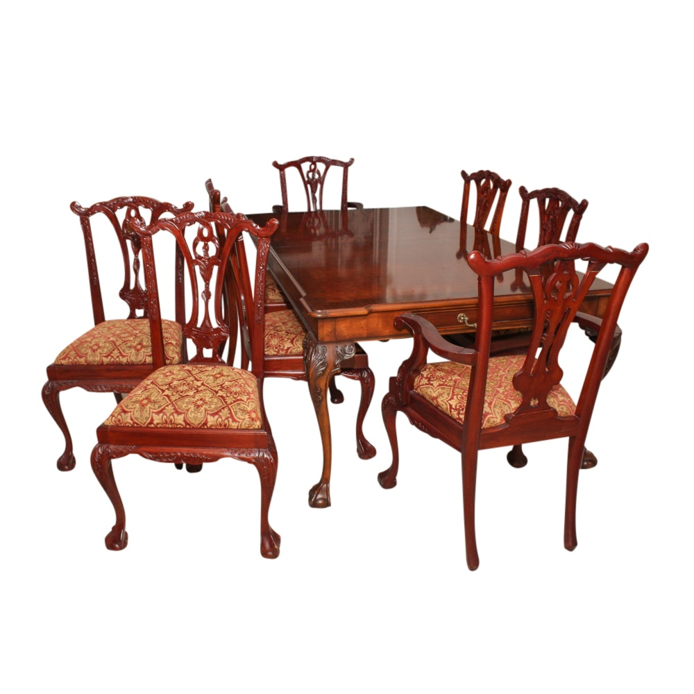 """Chippendale Style """"Rittenhouse Square"""" Dining Table and Chairs by Henredon"""