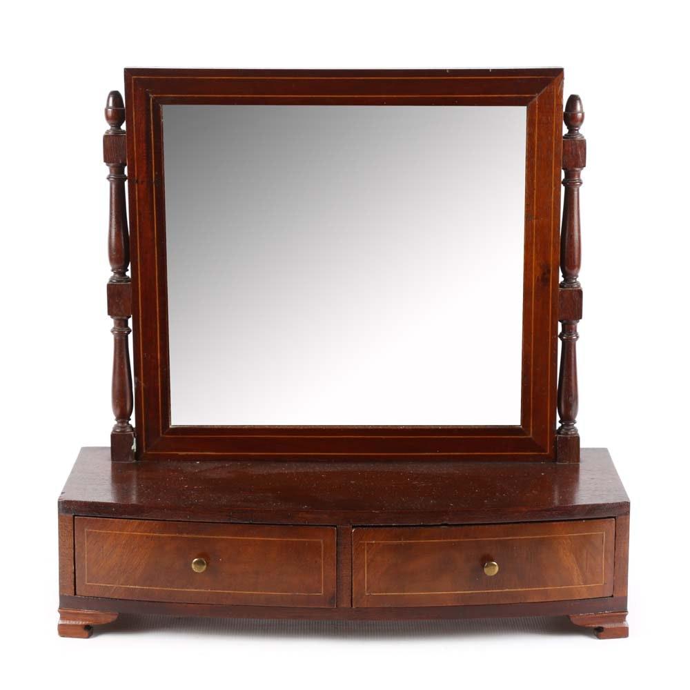 Mahogany Georgian Revival Dressing Mirror