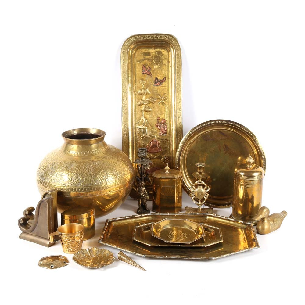 Collection of Brass Home Decor